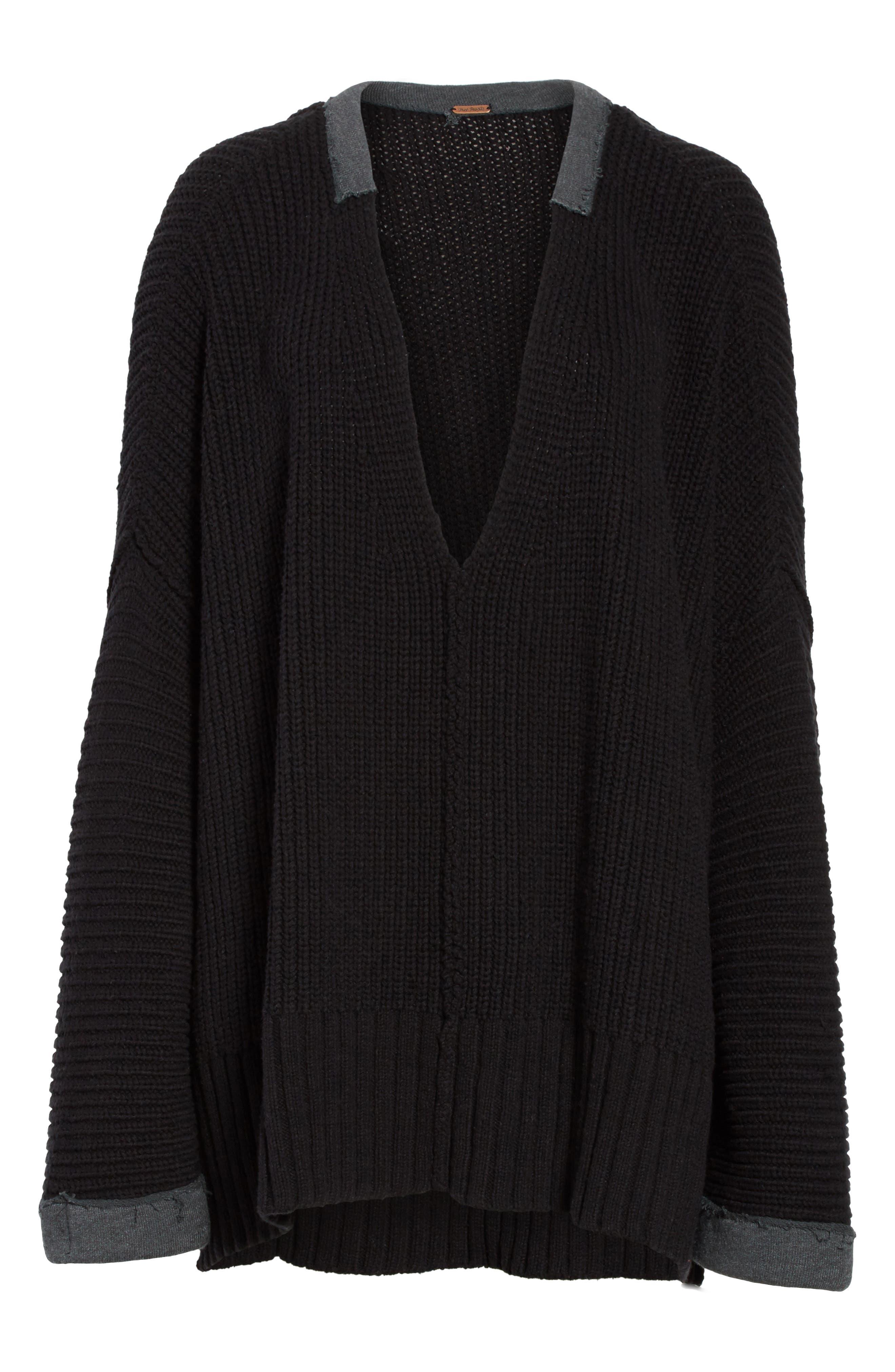 Take Over Me V-Neck Sweater,                             Alternate thumbnail 6, color,                             001