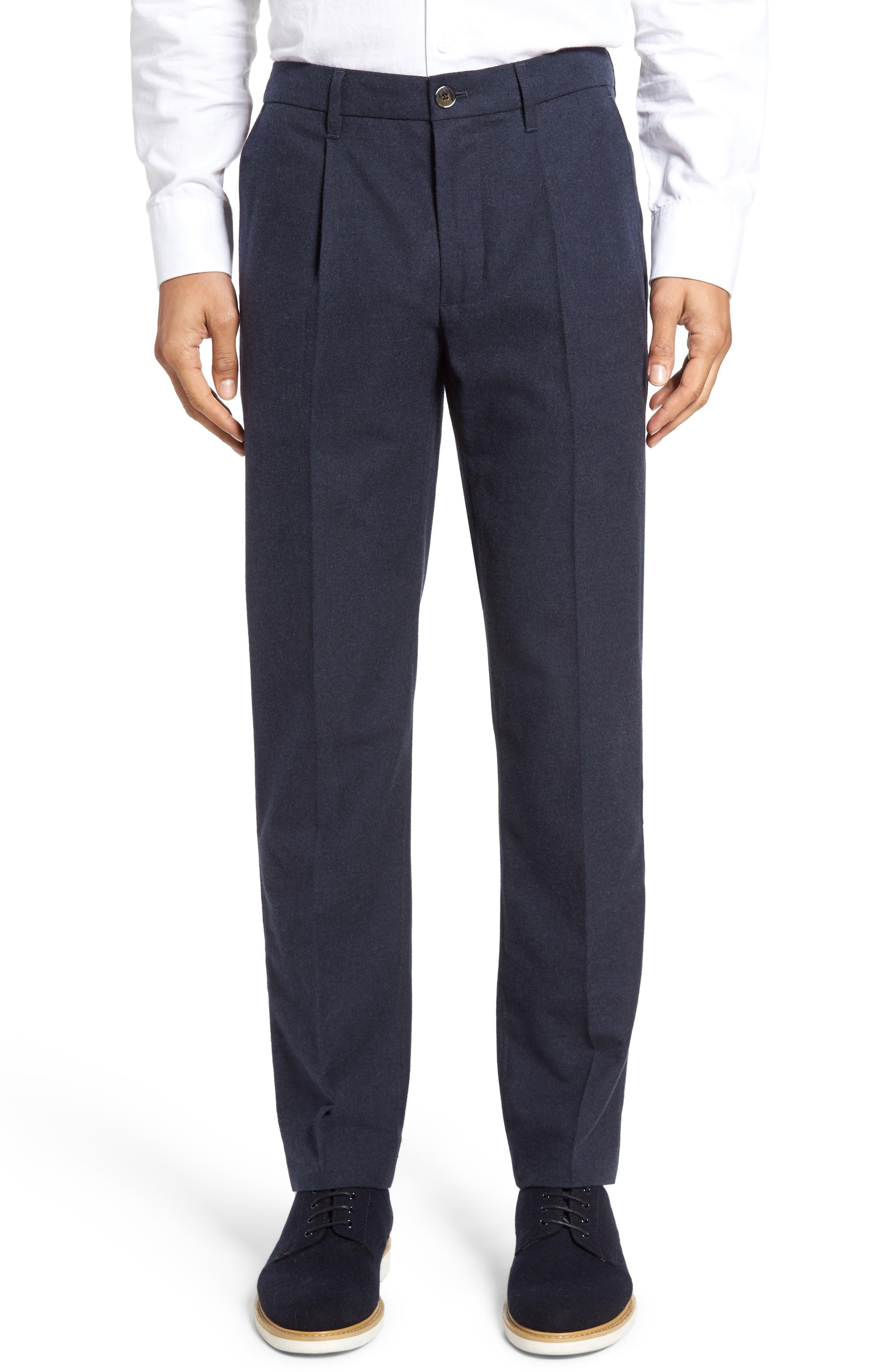 BONOBOS,                             Slim Fit Flannel Trousers,                             Alternate thumbnail 2, color,                             400