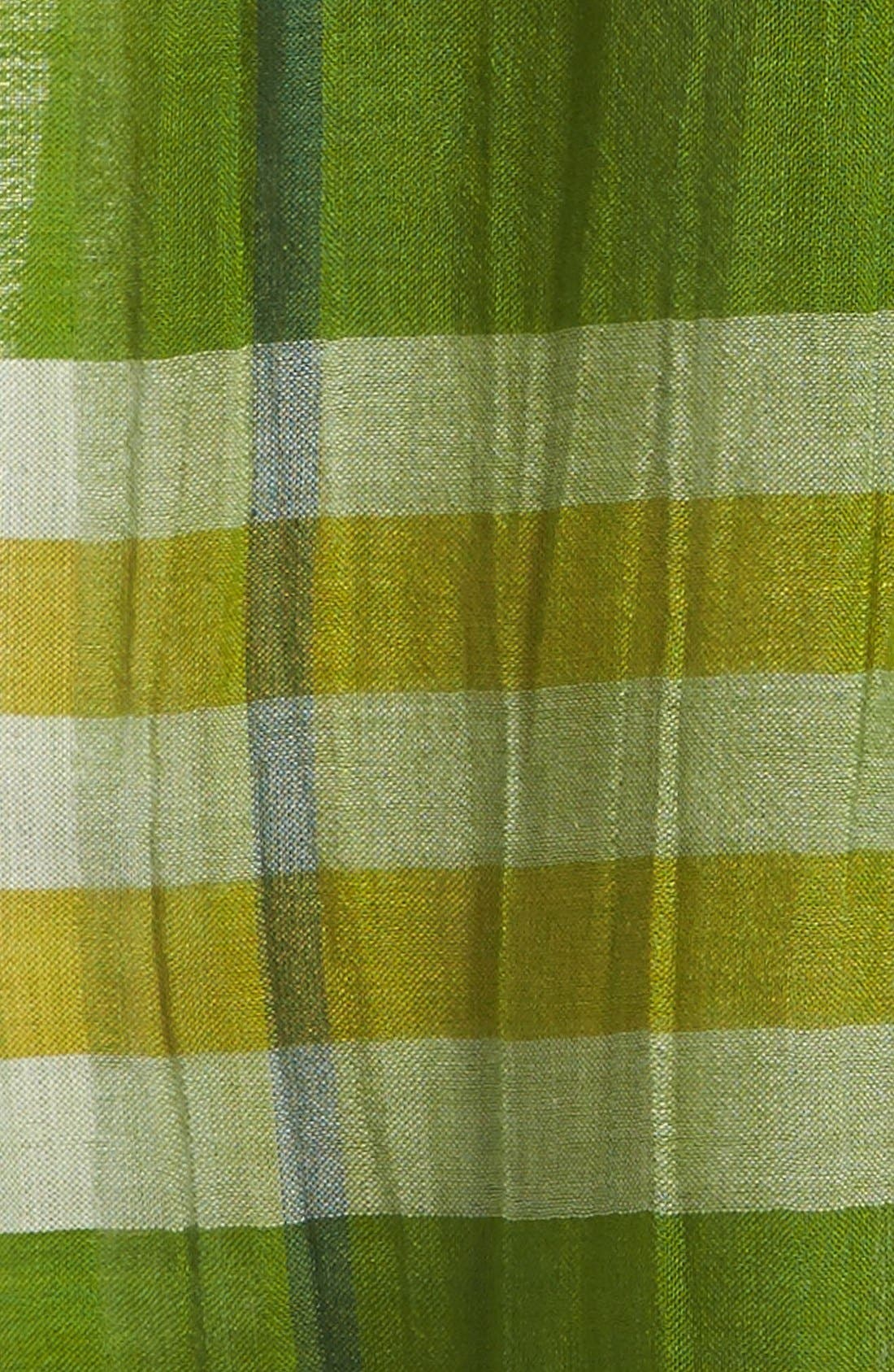 Giant Check Print Wool & Silk Scarf,                             Alternate thumbnail 86, color,