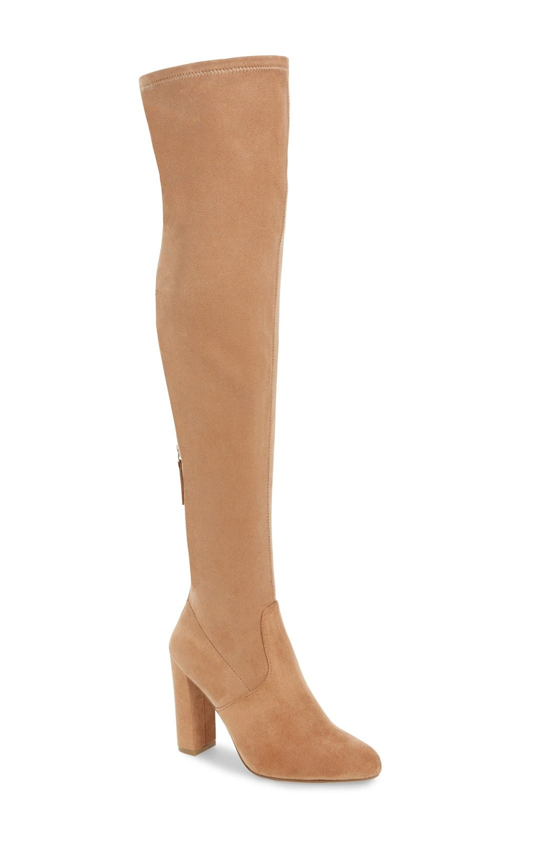 'Emotions' Stretch Over the Knee Boot,                             Main thumbnail 3, color,