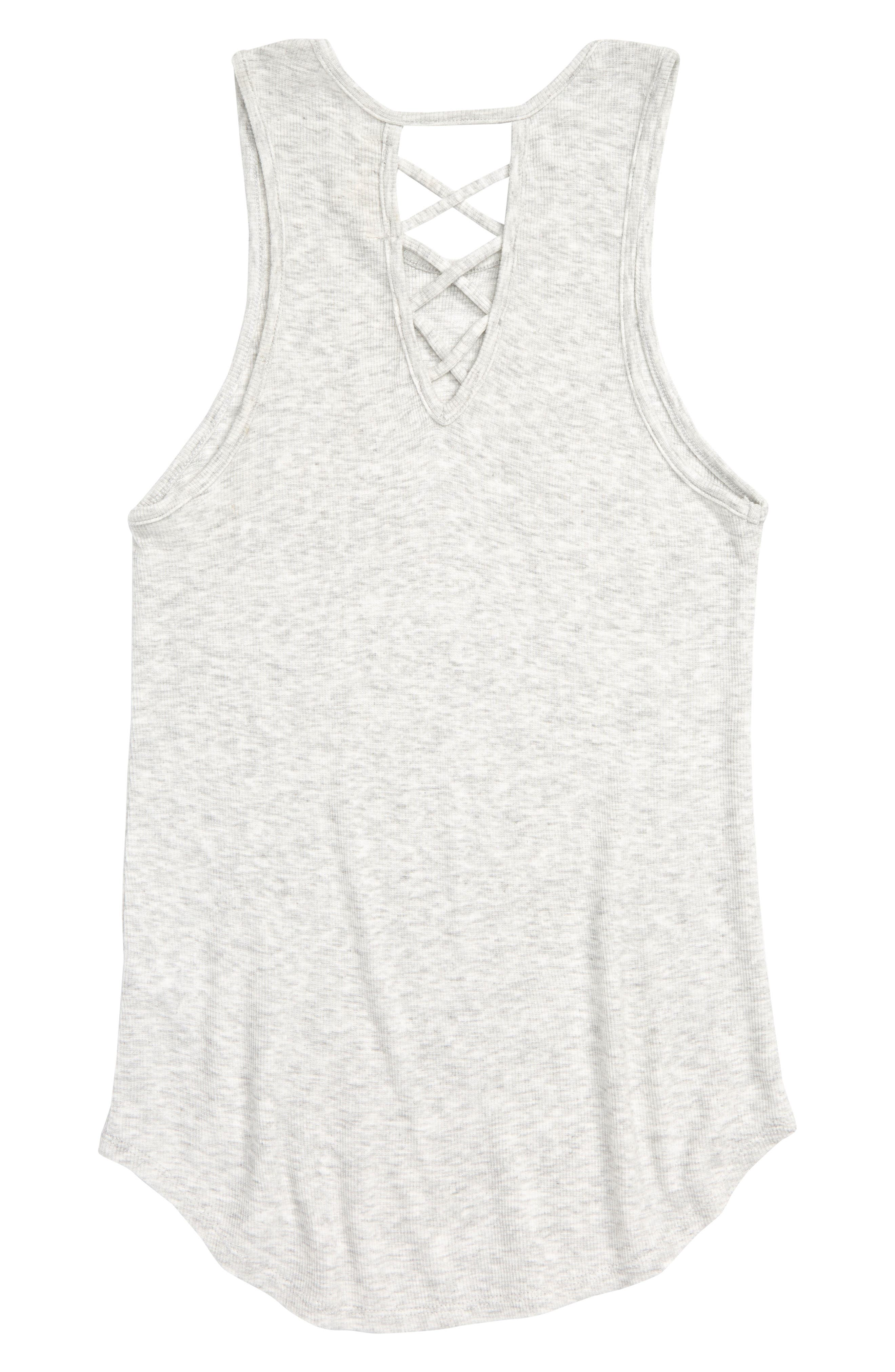 Crisscross Rib Tank,                             Alternate thumbnail 2, color,                             H GREY