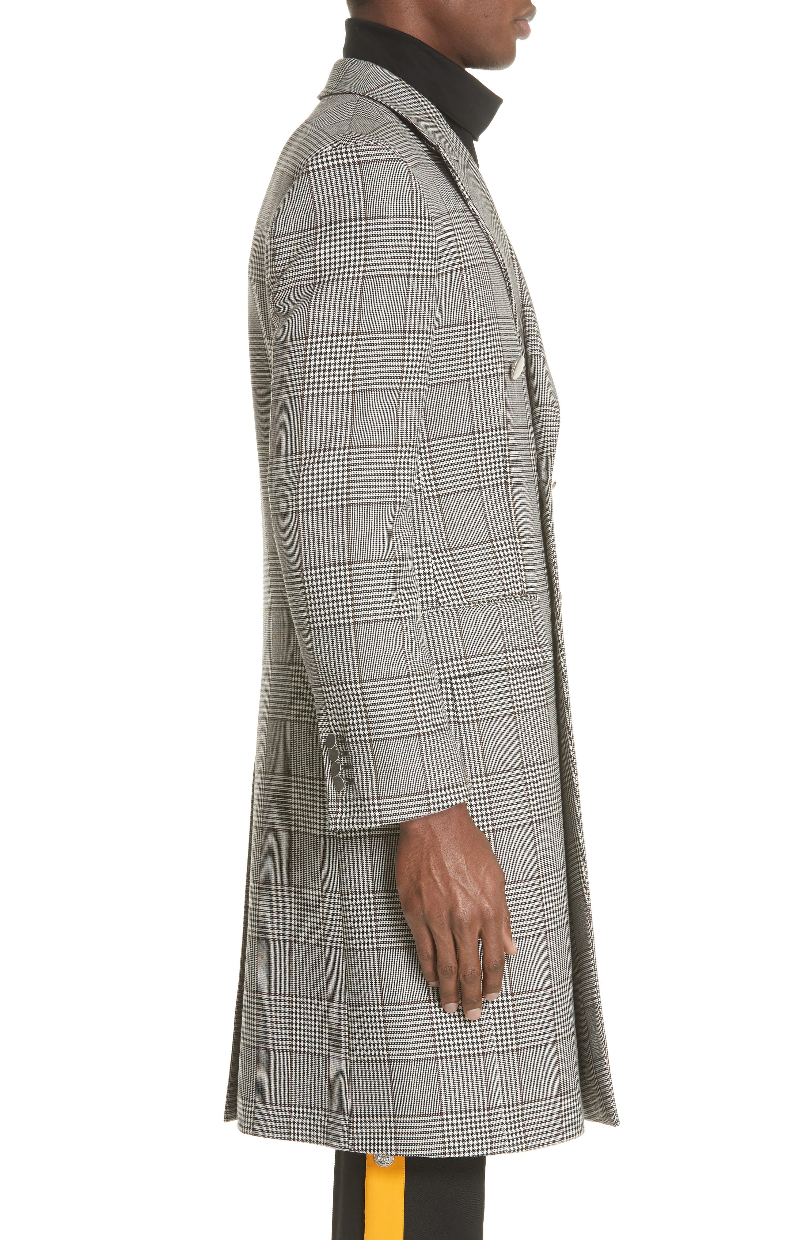 Plaid Overcoat,                             Alternate thumbnail 3, color,                             BROWN