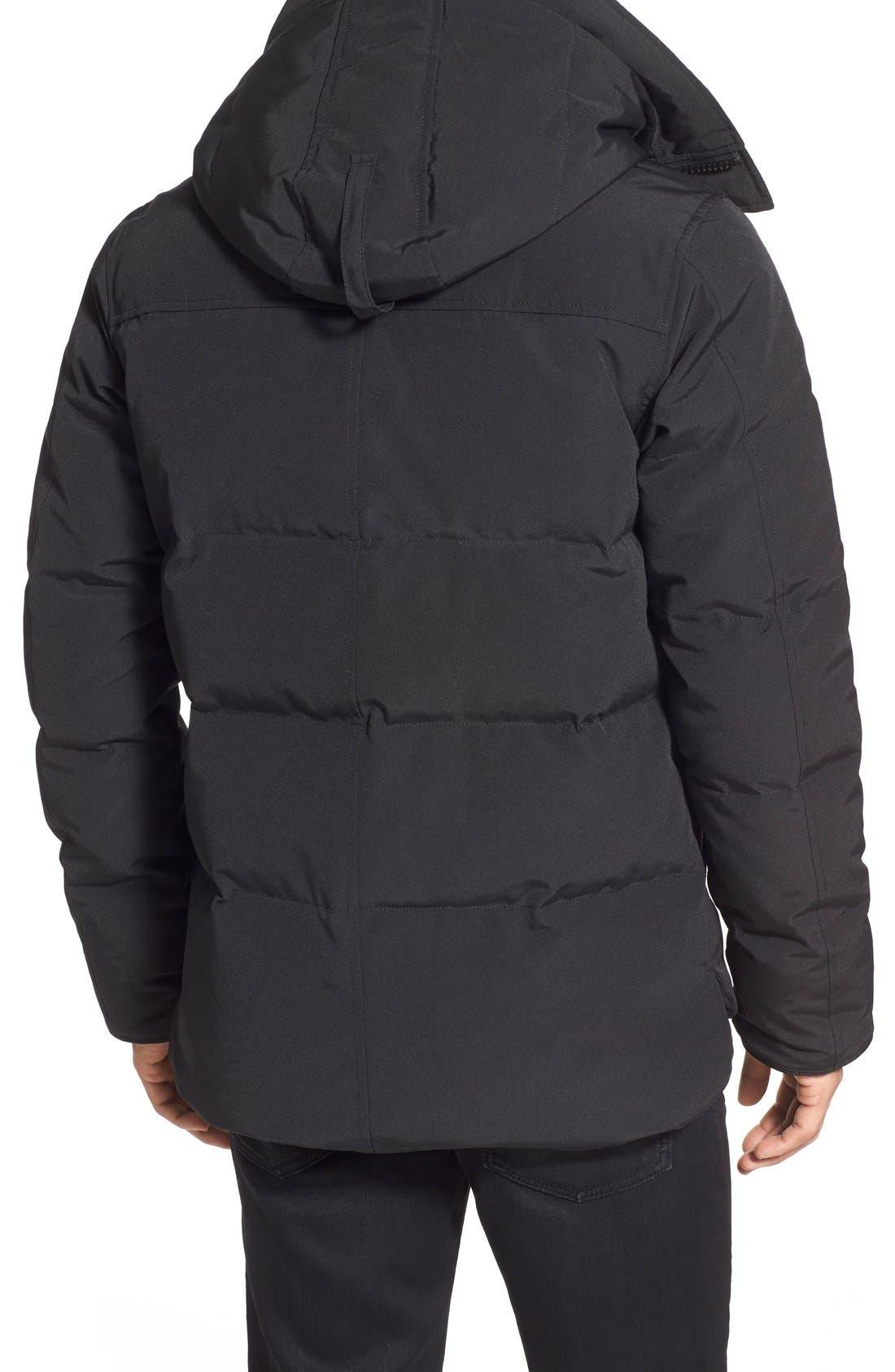 'MacMillan' Slim Fit Hooded Parka,                             Alternate thumbnail 3, color,                             BLACK