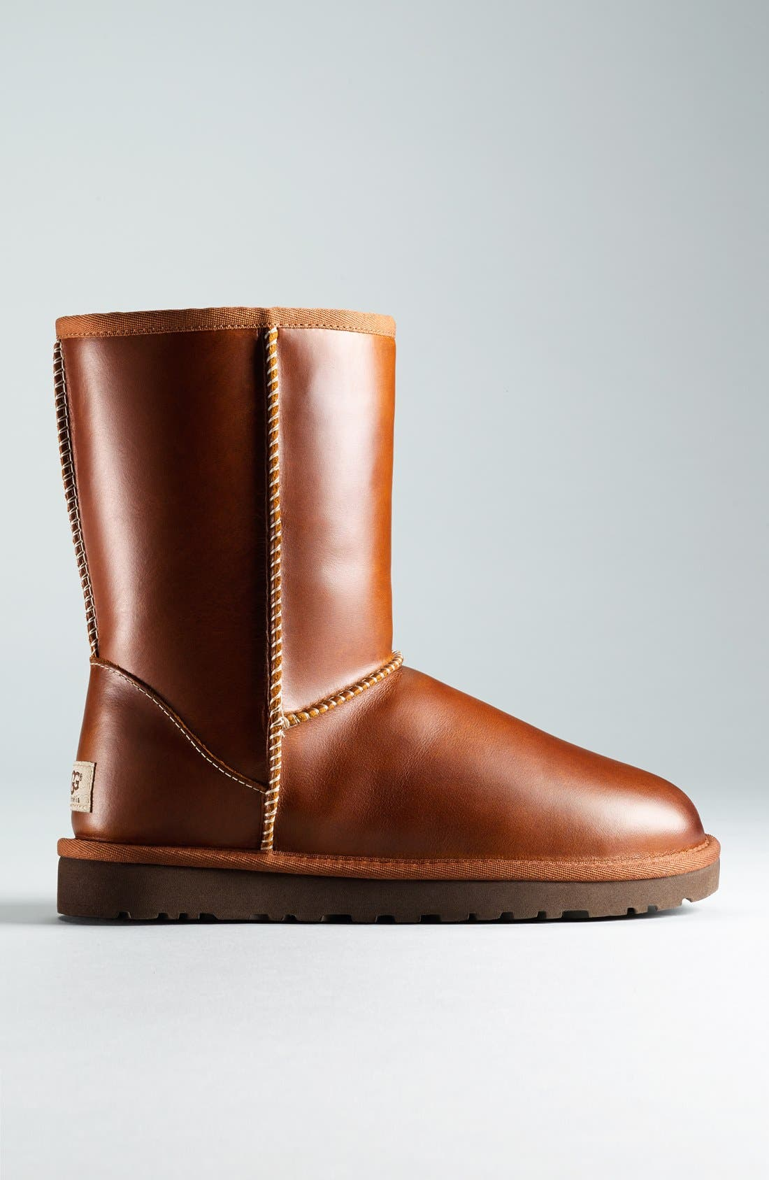 UGG<SUP>®</SUP>,                             Australia 'Classic Short' Leather Water Resistant Boot,                             Alternate thumbnail 5, color,                             219