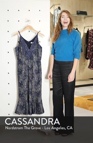 Isabelle Plunge Neck Lace Trumpet Dress, sales video thumbnail
