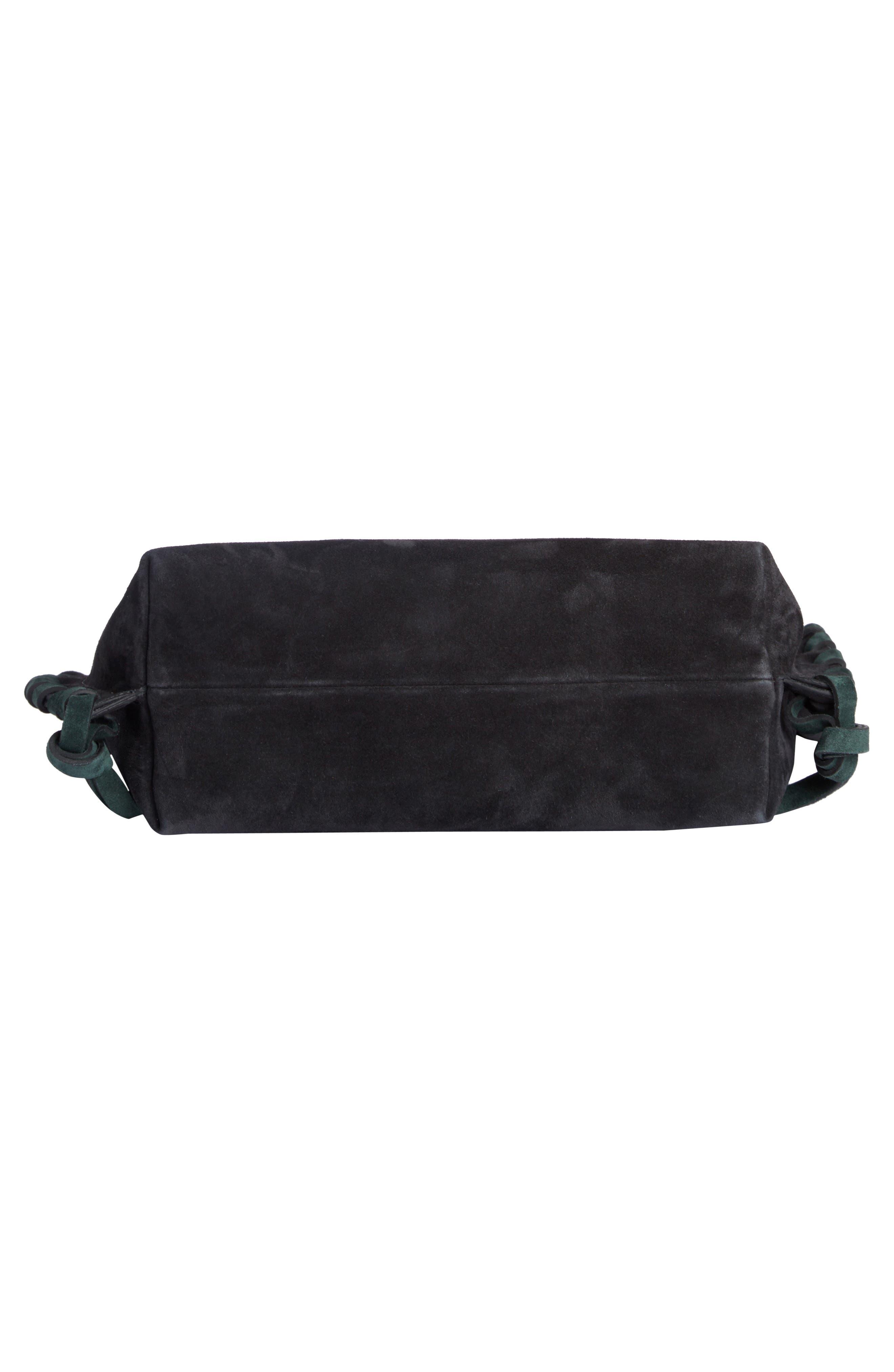 Asli Colorblock Suede Shoulder Bag,                             Alternate thumbnail 4, color,                             002