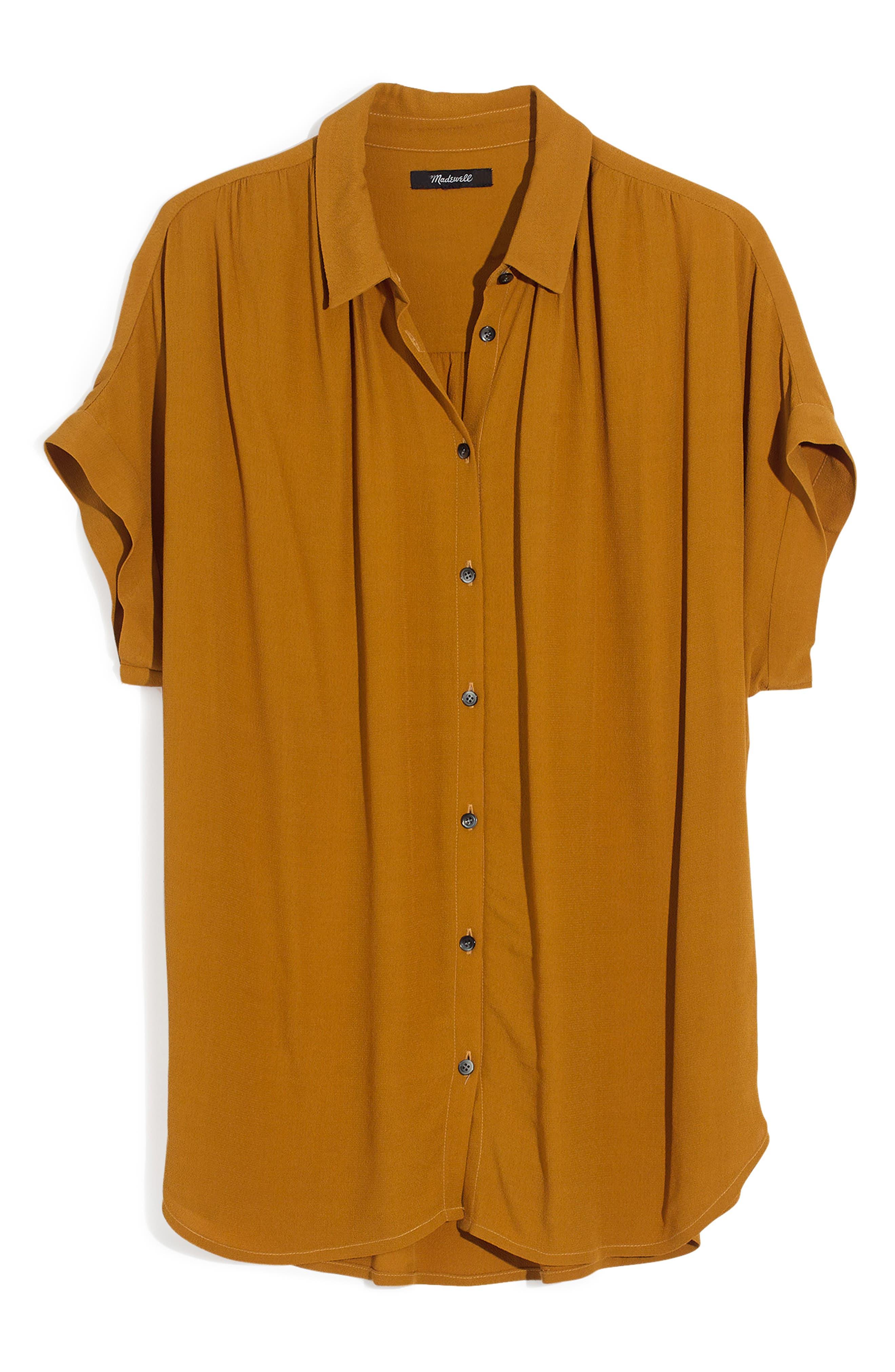 Central Drapey Shirt,                             Alternate thumbnail 4, color,                             EGYPTIAN GOLD