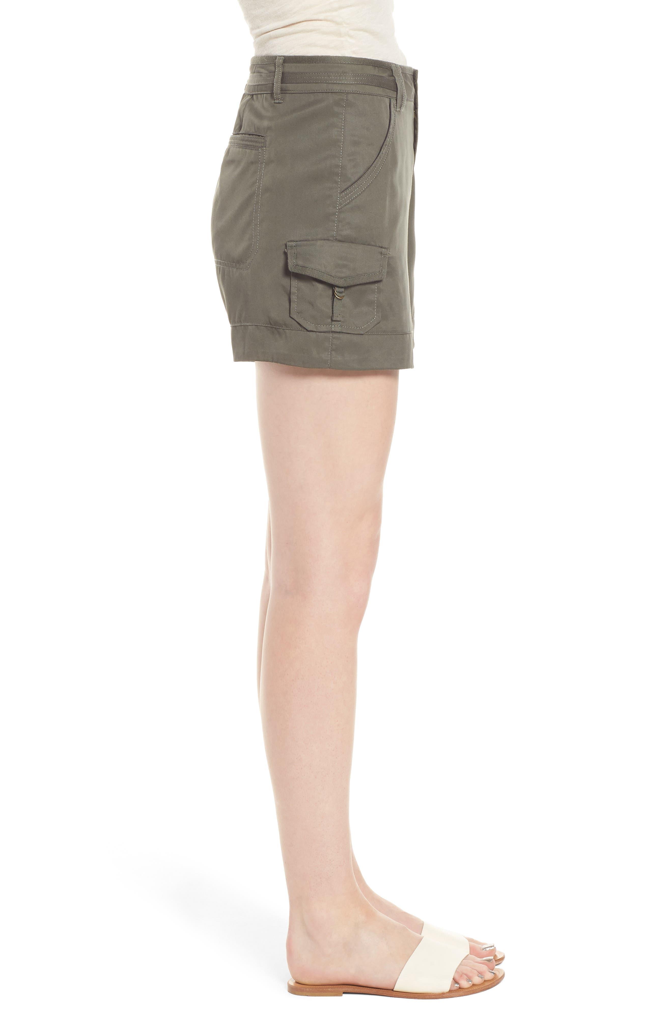 High Rise Tencel Shorts,                             Alternate thumbnail 12, color,