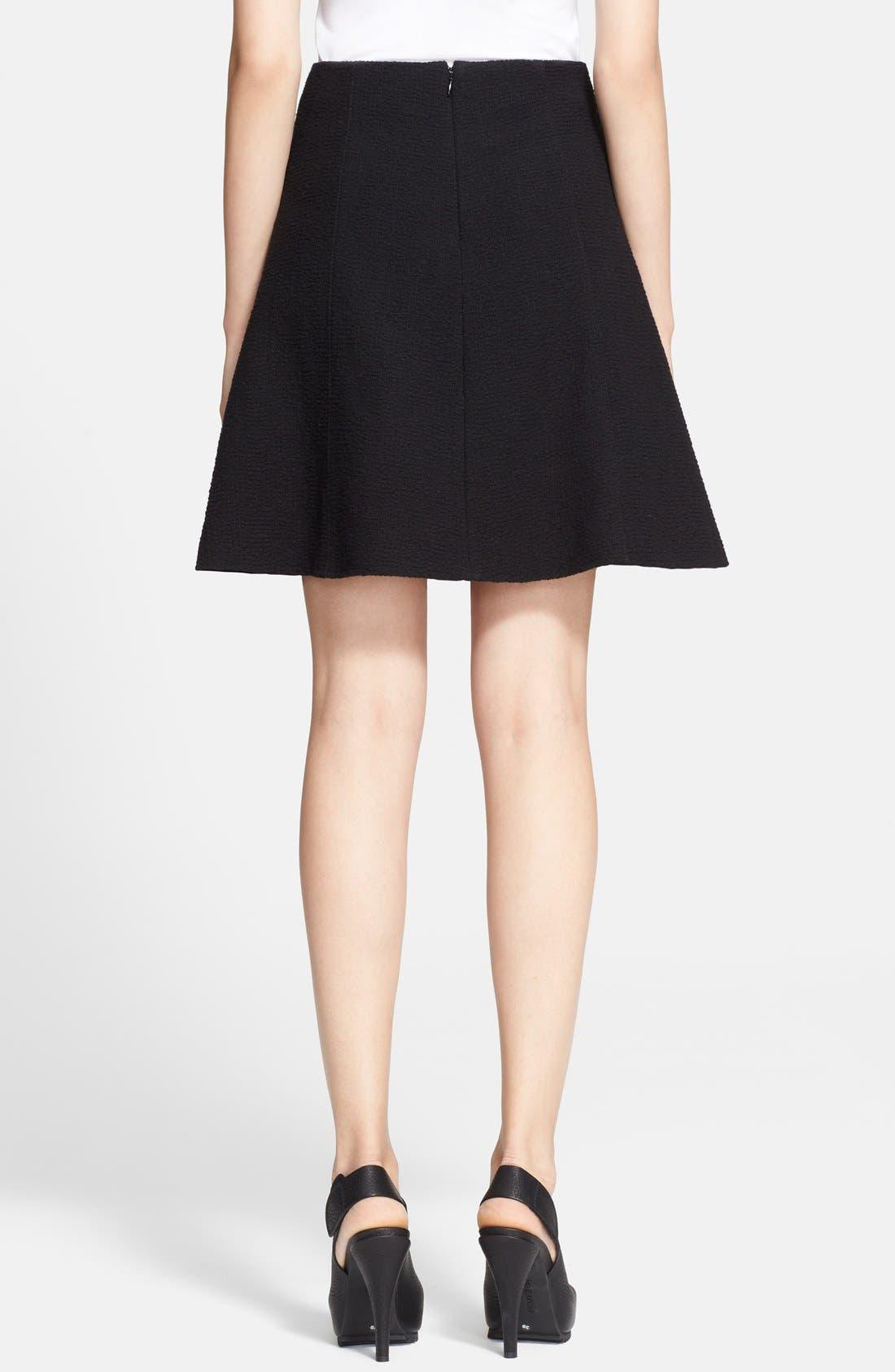 Textured A-Line Skirt,                             Alternate thumbnail 3, color,                             001