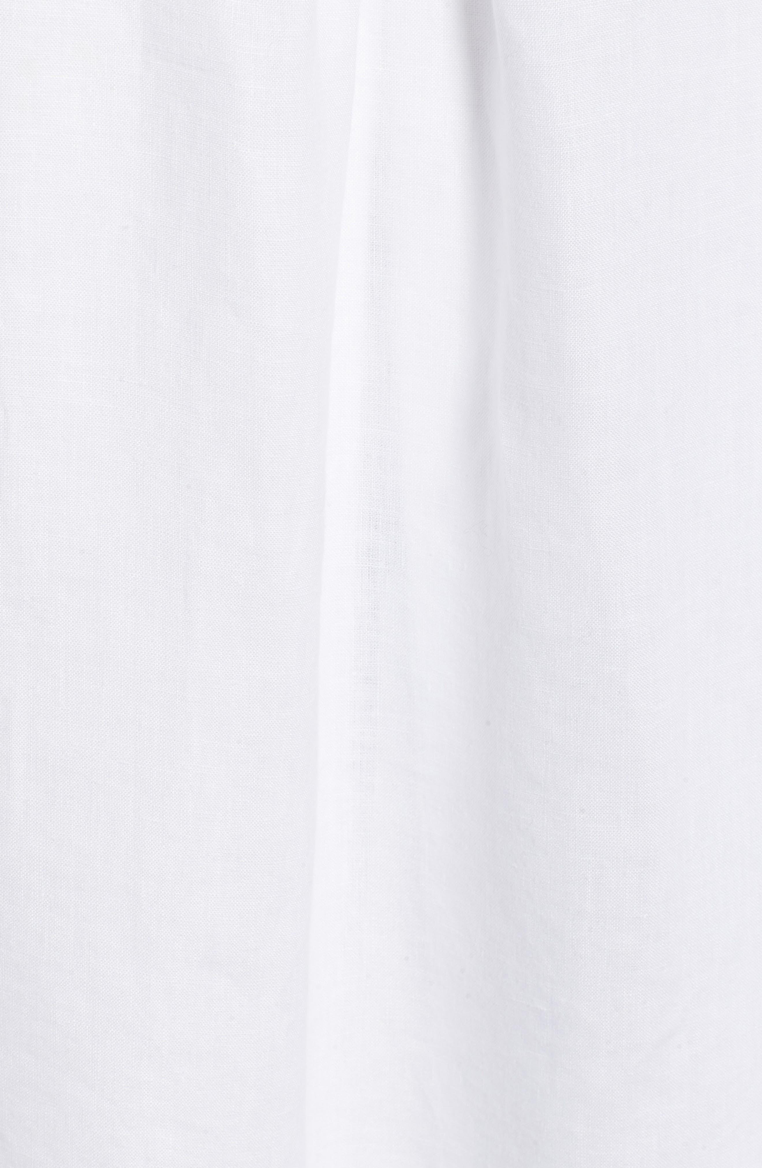 Organic Linen Tunic Shirt,                             Alternate thumbnail 5, color,                             100