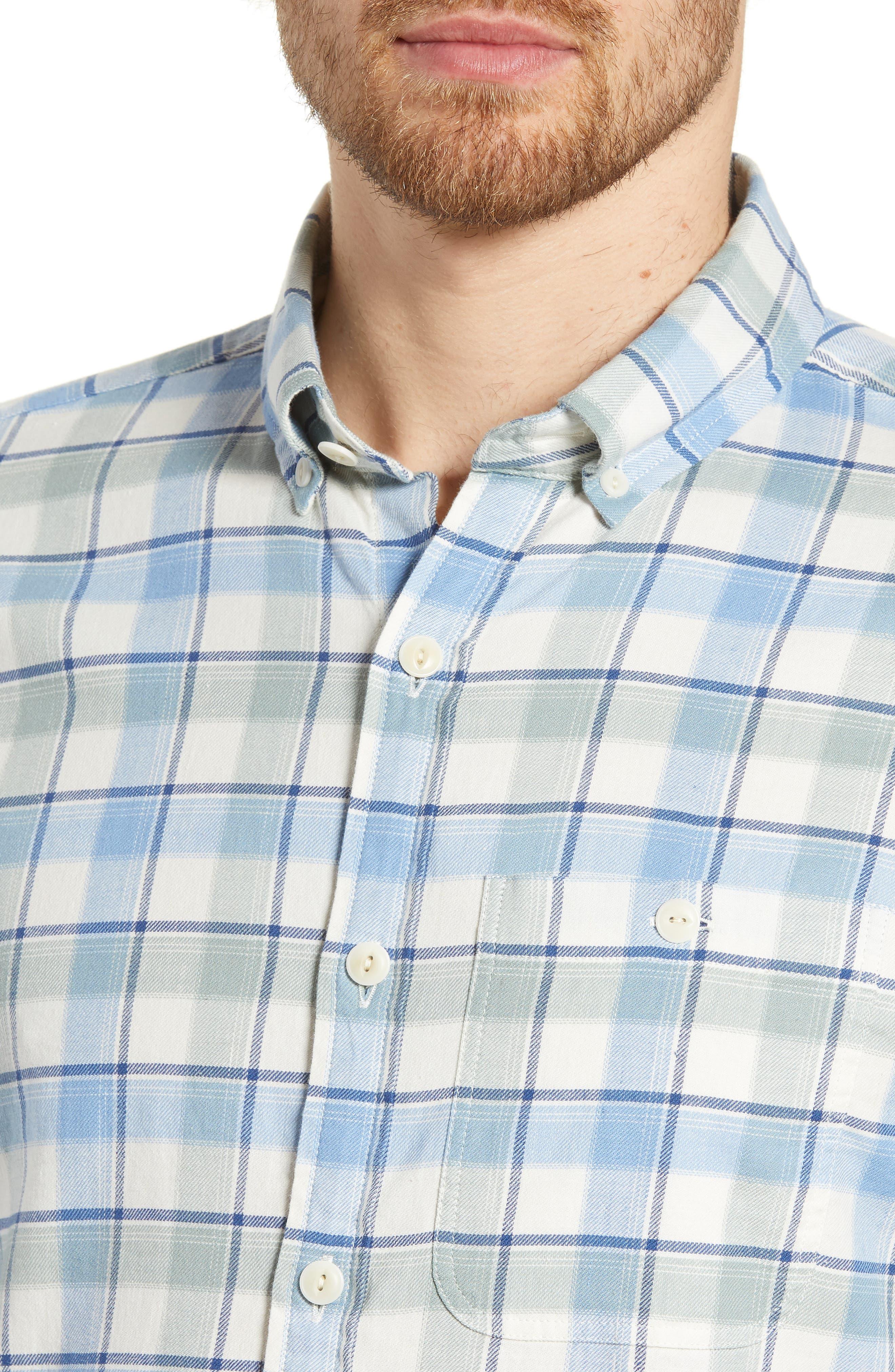 VINEYARD VINES,                             Bayside Slim Fit Plaid Sport Shirt,                             Alternate thumbnail 2, color,                             LIGHT SAGE