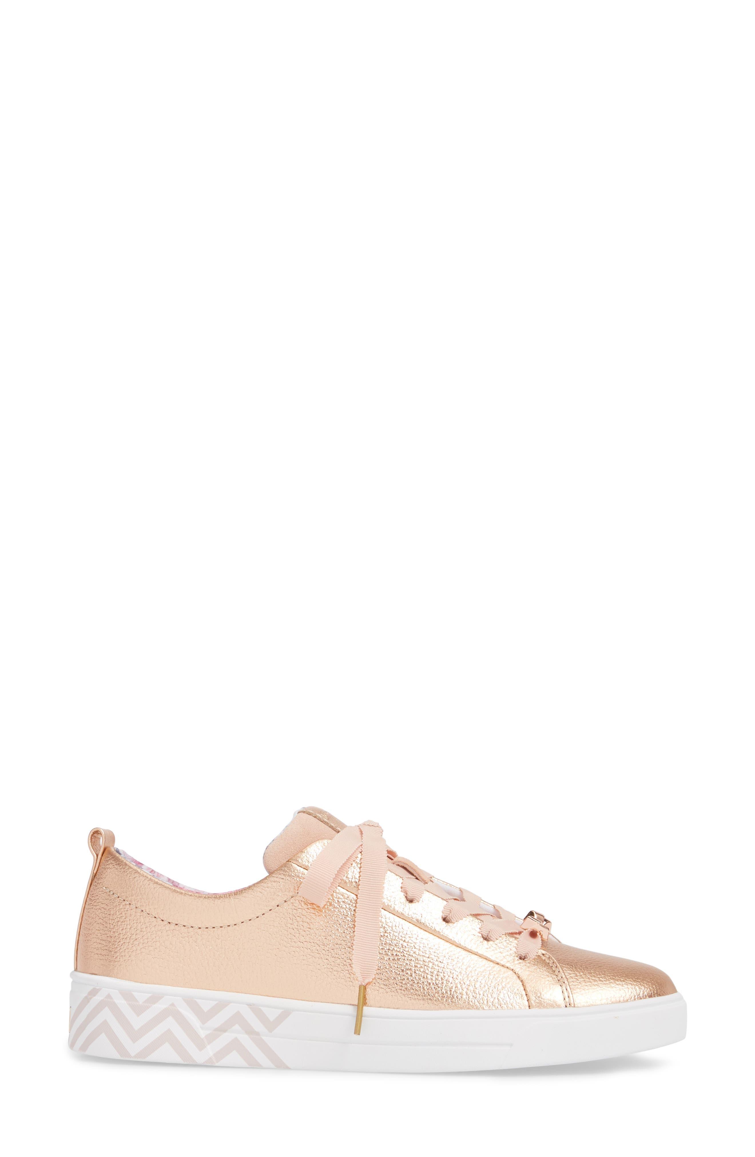 Kelleip Sneaker,                             Alternate thumbnail 3, color,                             ROSE GOLD/ PALACE GARDENS