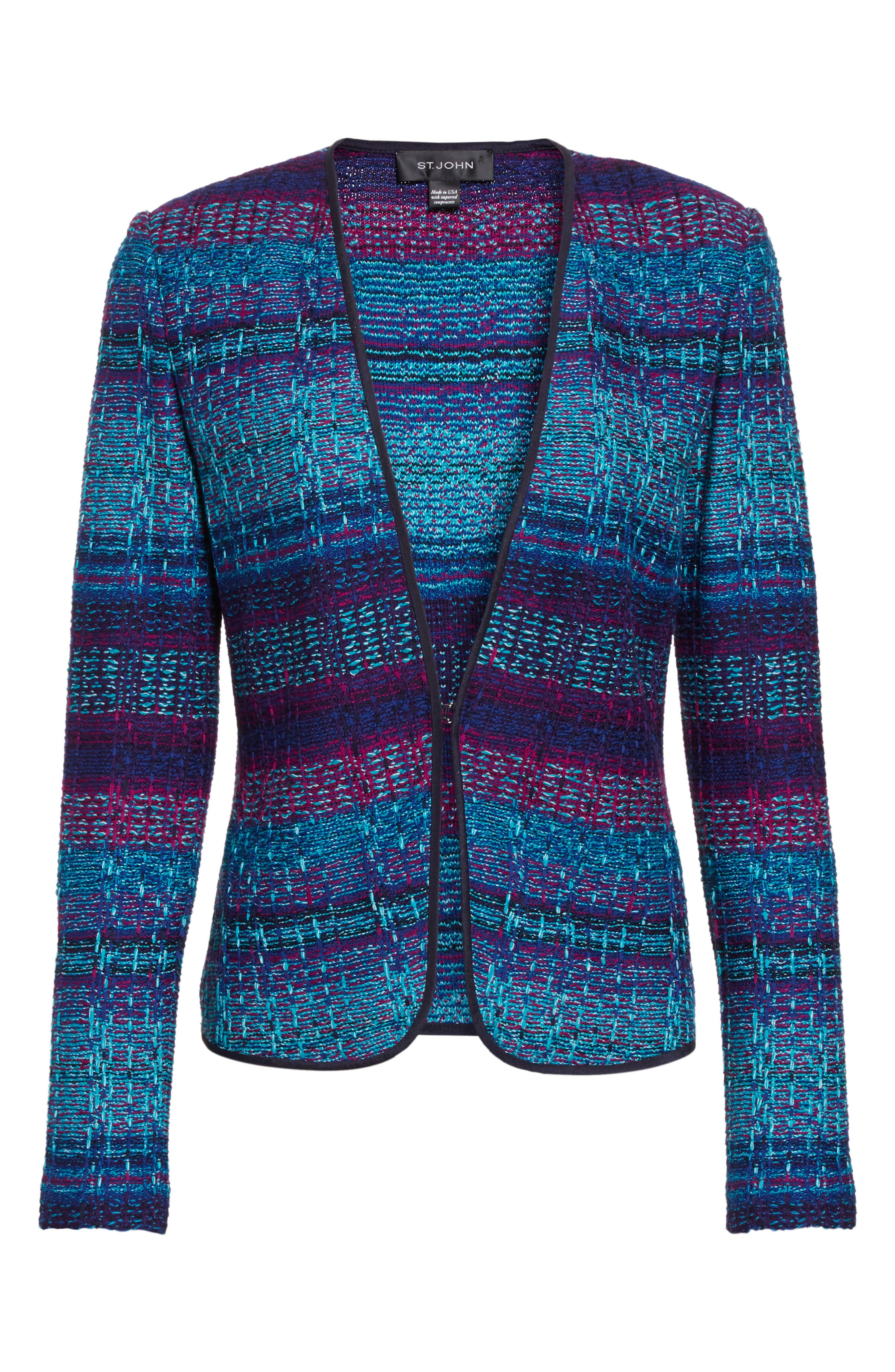 Ellah Knit Jacket,                             Alternate thumbnail 5, color,                             410