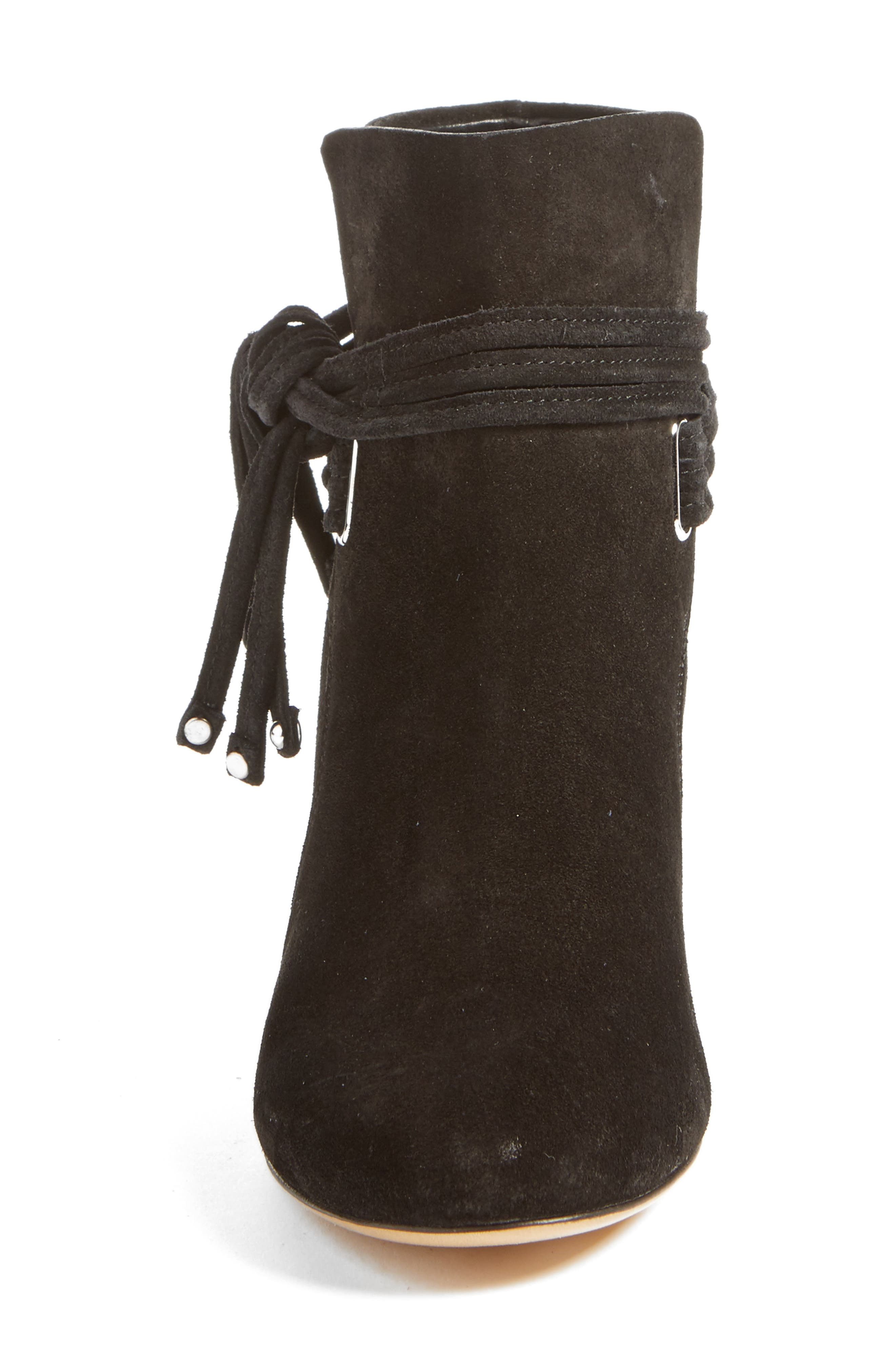 Dalia II Tie-Strap Bootie,                             Alternate thumbnail 4, color,                             008