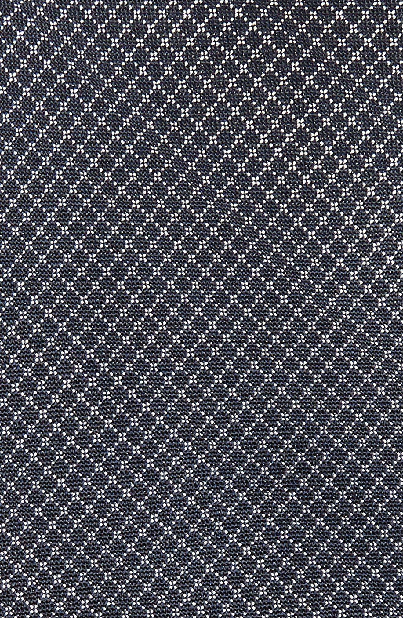 Badini Mini Check Silk Tie,                             Alternate thumbnail 2, color,                             410