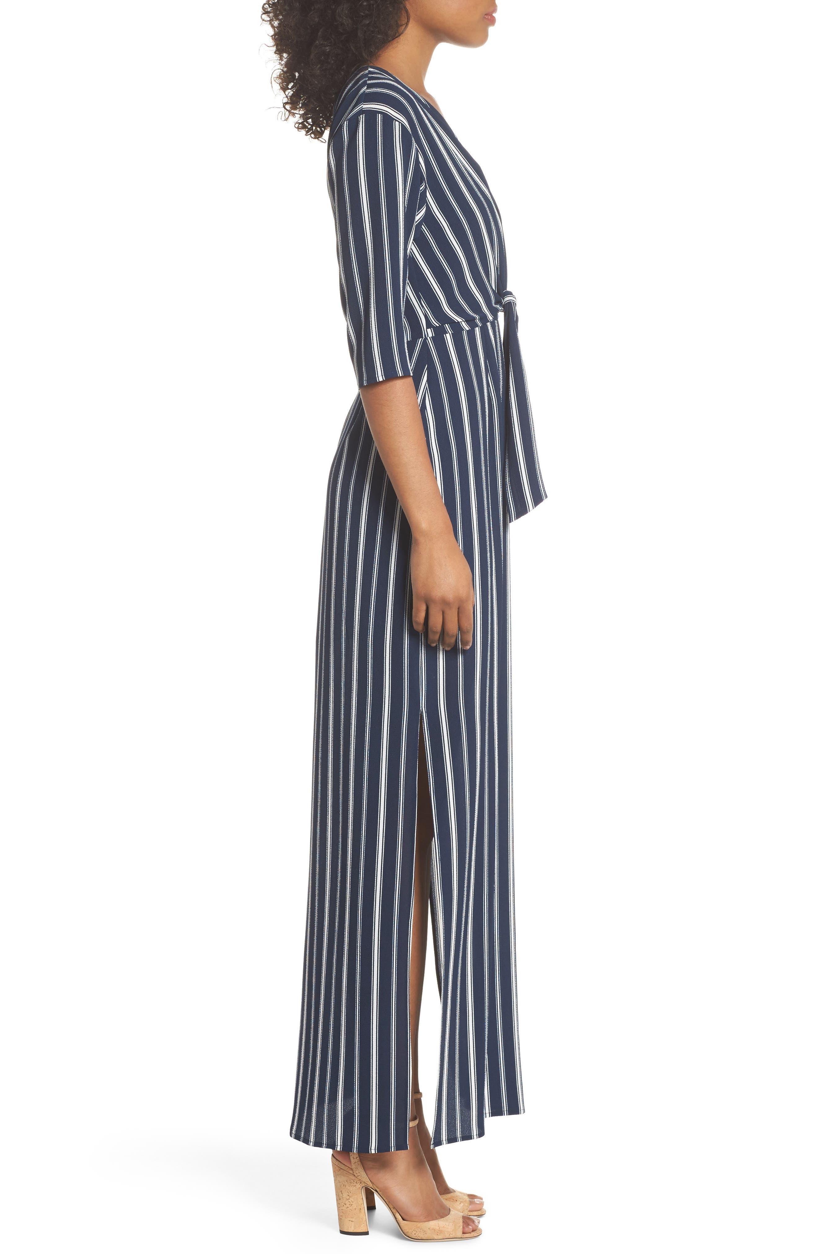 Knot Front Maxi Dress,                             Alternate thumbnail 3, color,                             439