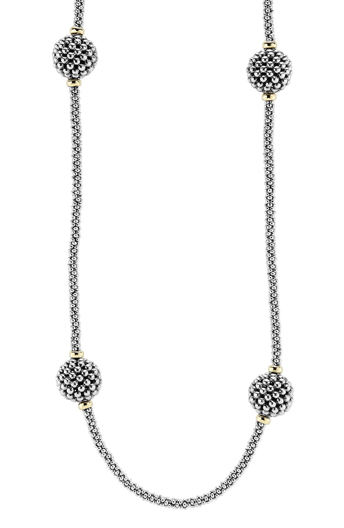 'Caviar Forever' Station Rope Long Necklace,                             Alternate thumbnail 3, color,                             040