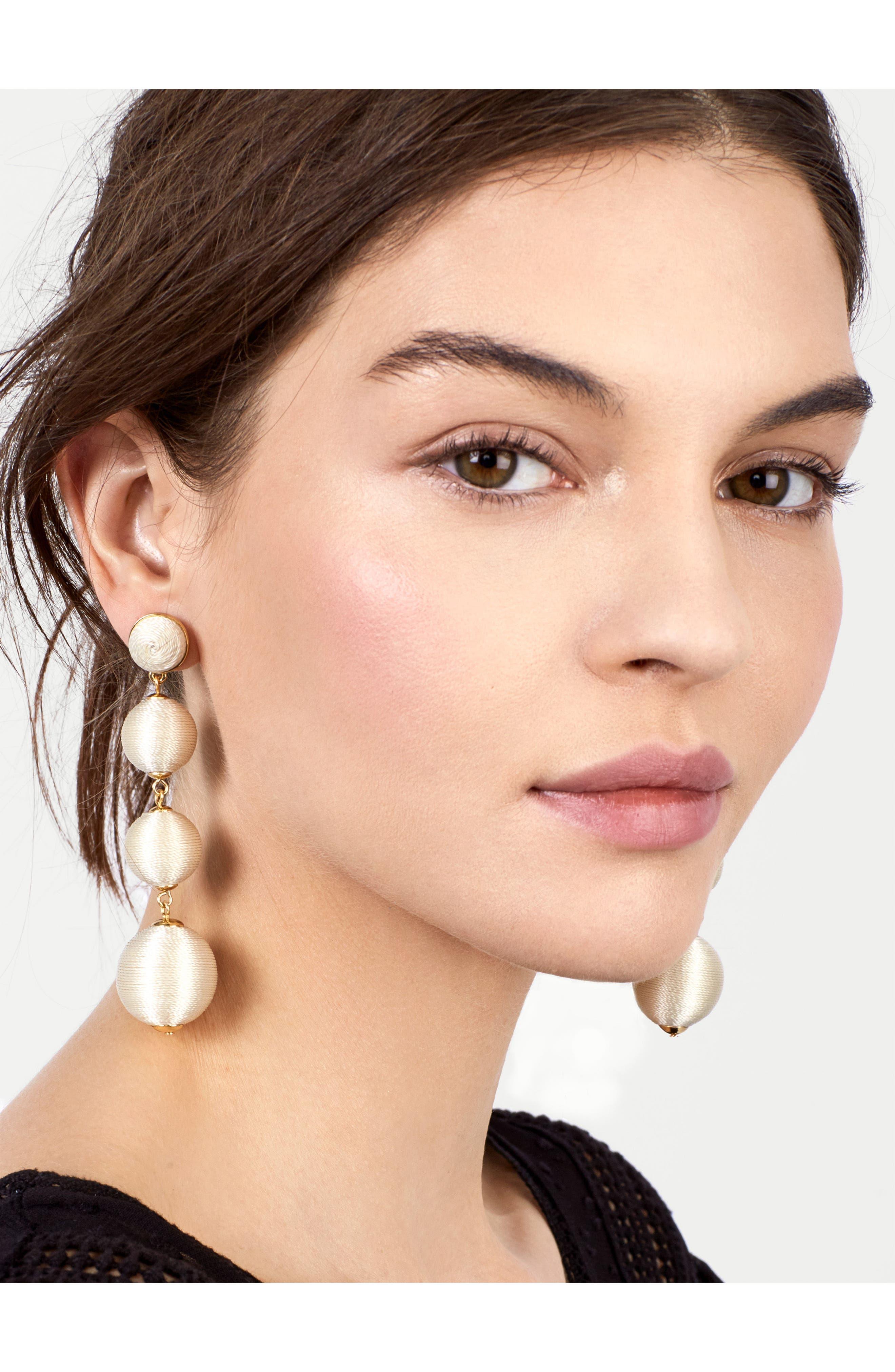 Criselda Ball Shoulder Duster Earrings,                             Alternate thumbnail 12, color,