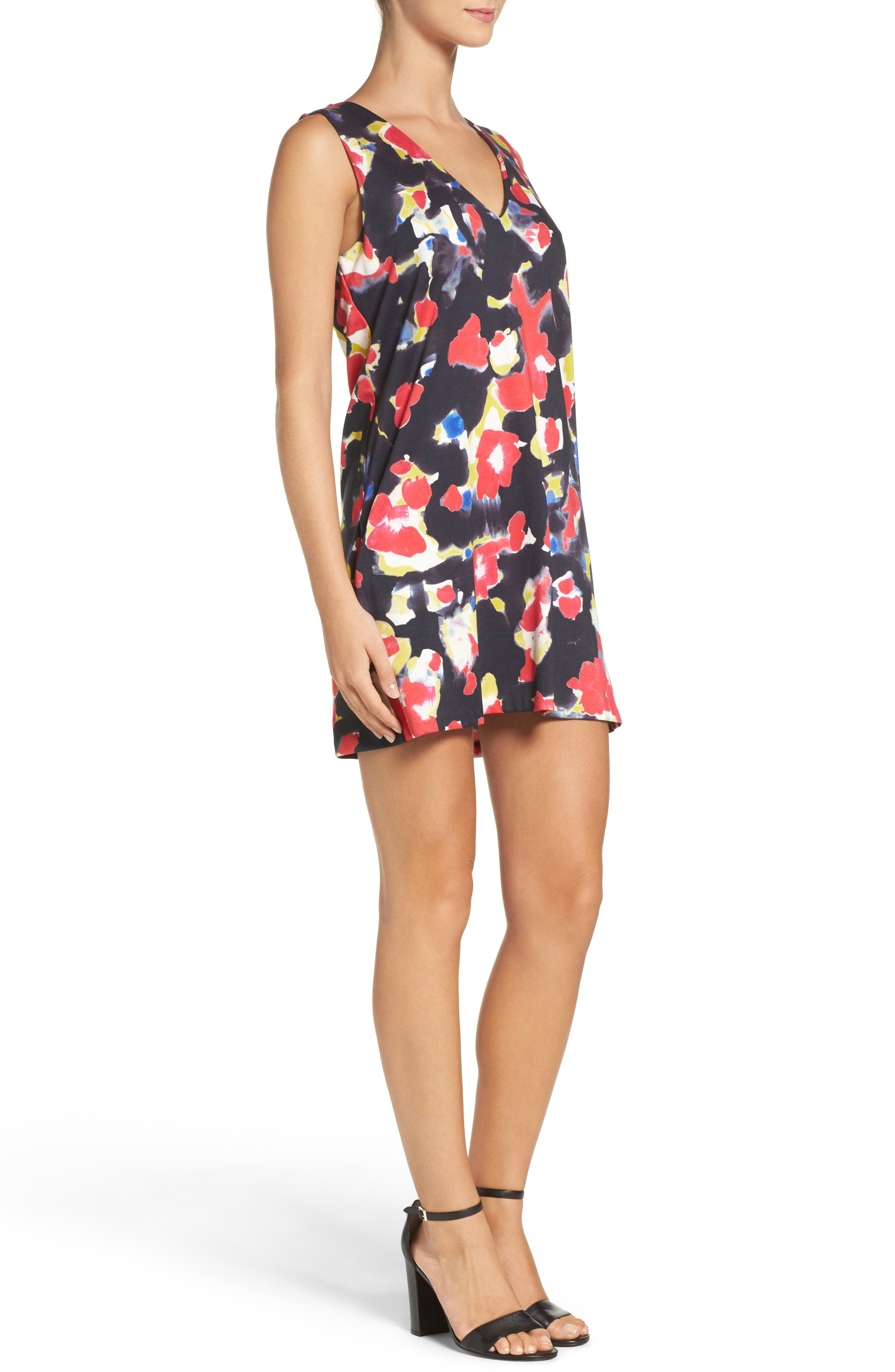 Bella Lula Graphic Minidress,                             Alternate thumbnail 3, color,                             420
