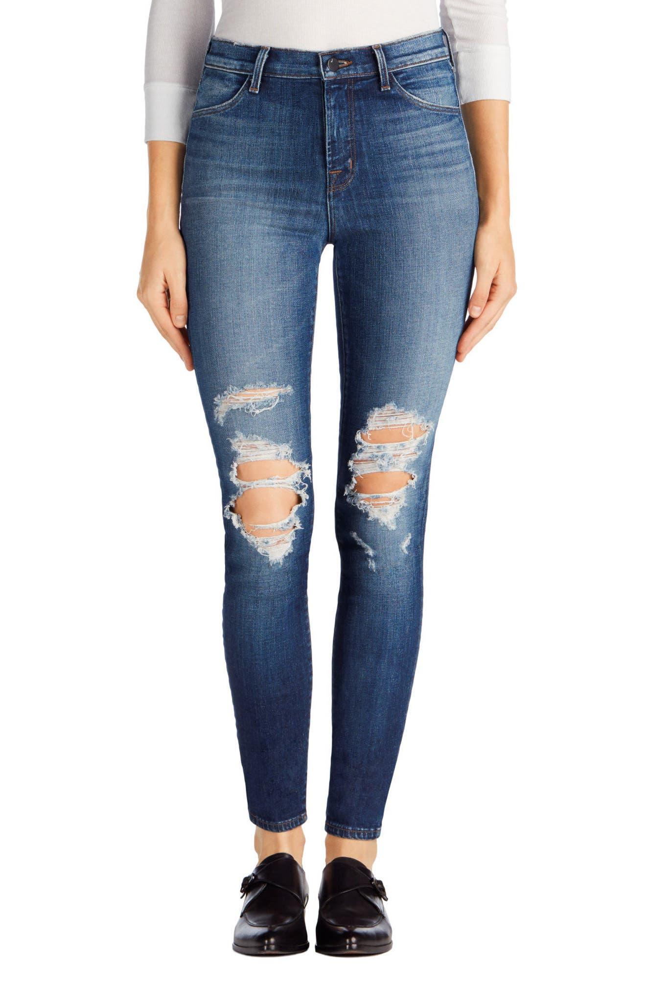 Maria High Waist Skinny Jeans,                             Alternate thumbnail 20, color,