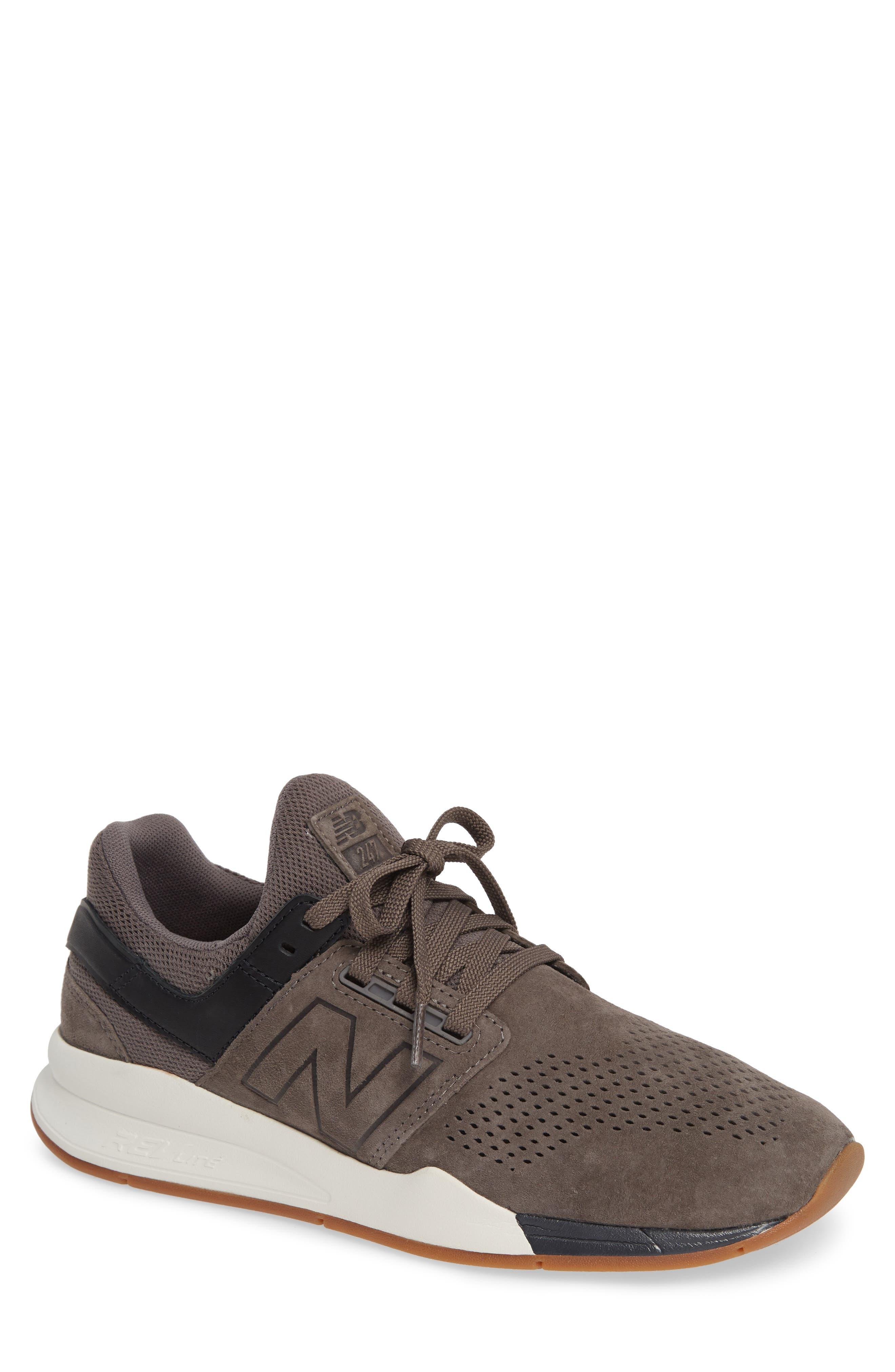 247v2 Sneaker,                         Main,                         color, DARK GREY NUBUCK LEATHER