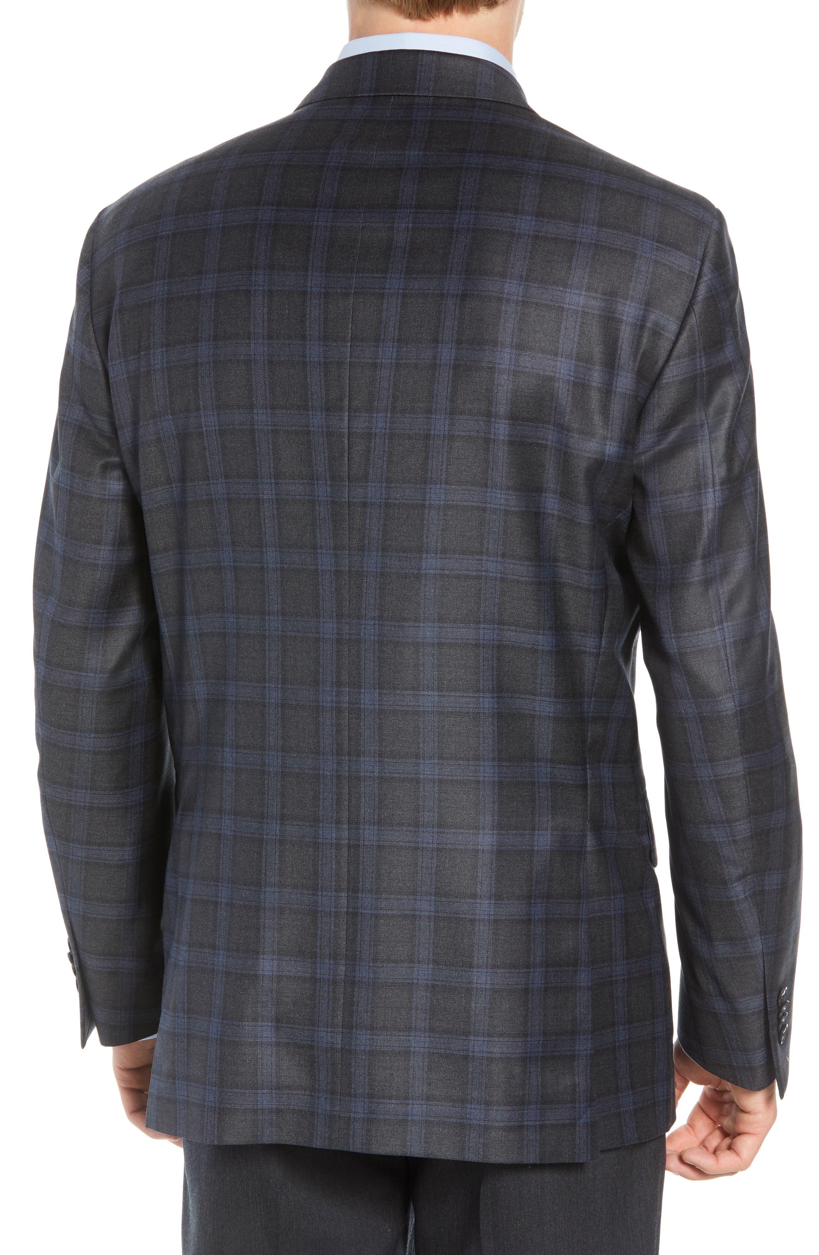 Classic Fit Windowpane Wool Sport Coat,                             Alternate thumbnail 2, color,                             GREY