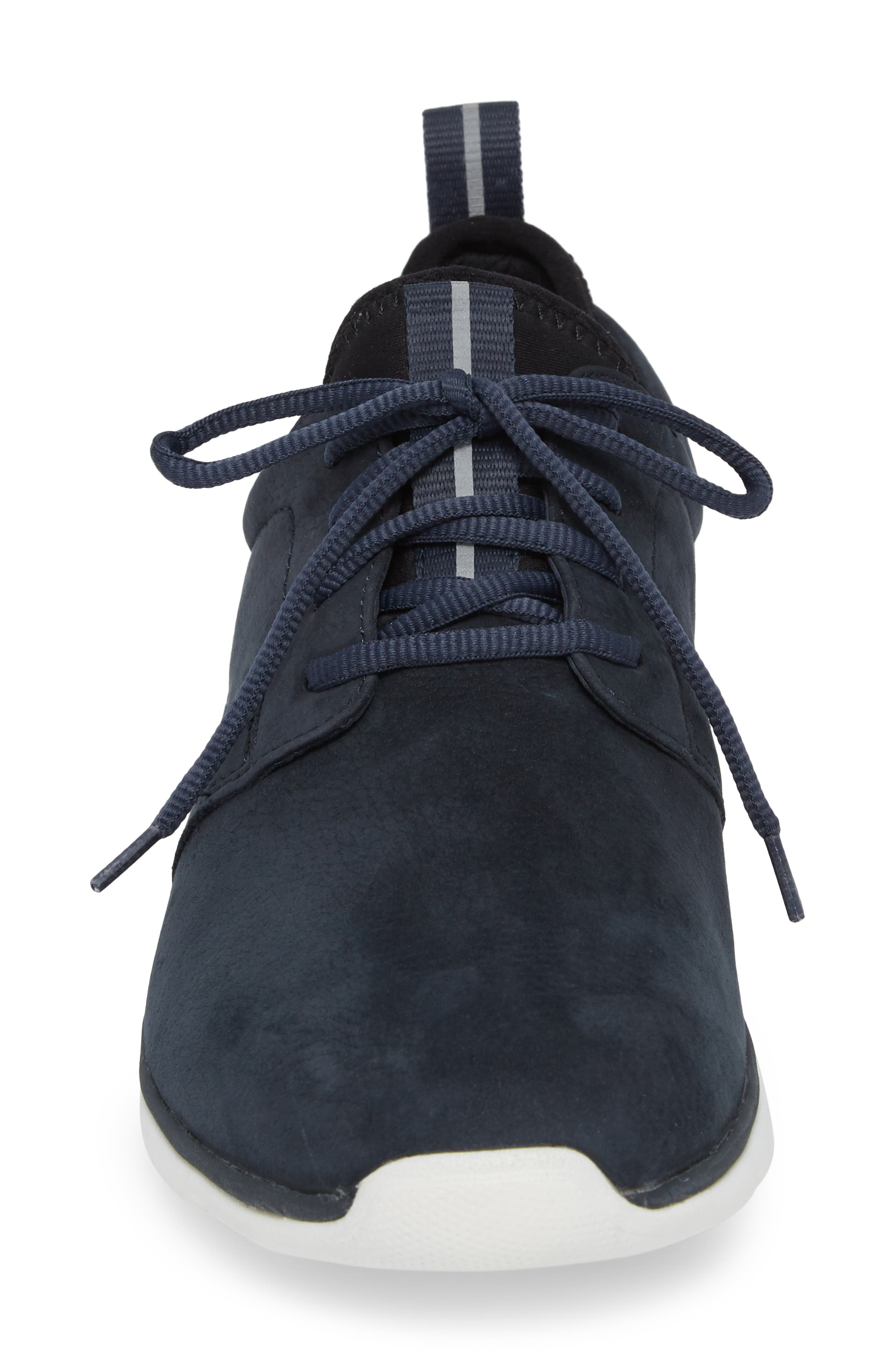 Prentiss XC4<sup>®</sup> Waterproof Low Top Sneaker,                             Alternate thumbnail 4, color,                             NAVY NUBUCK