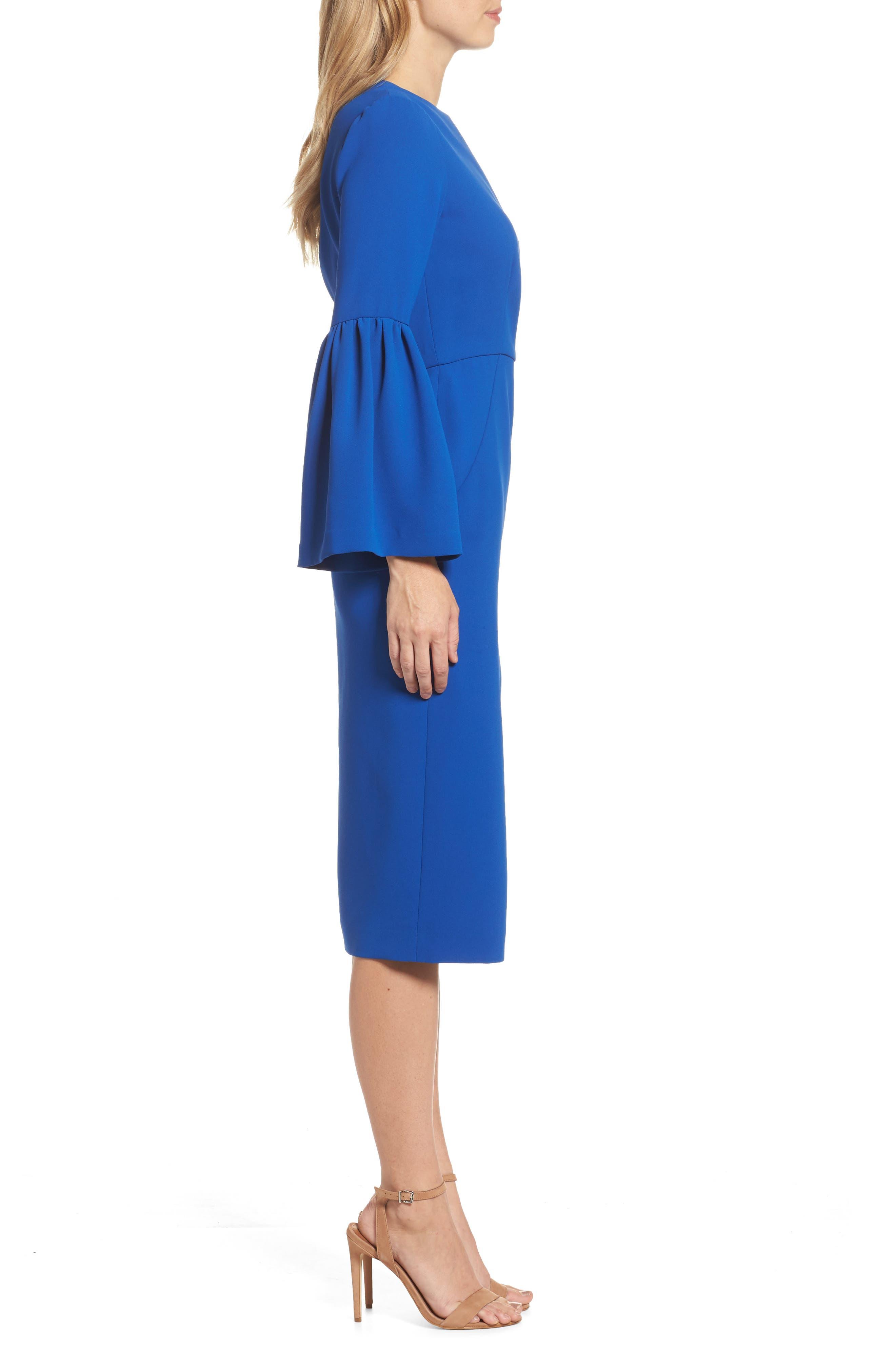 Bell Sleeve Dress,                             Alternate thumbnail 3, color,                             471