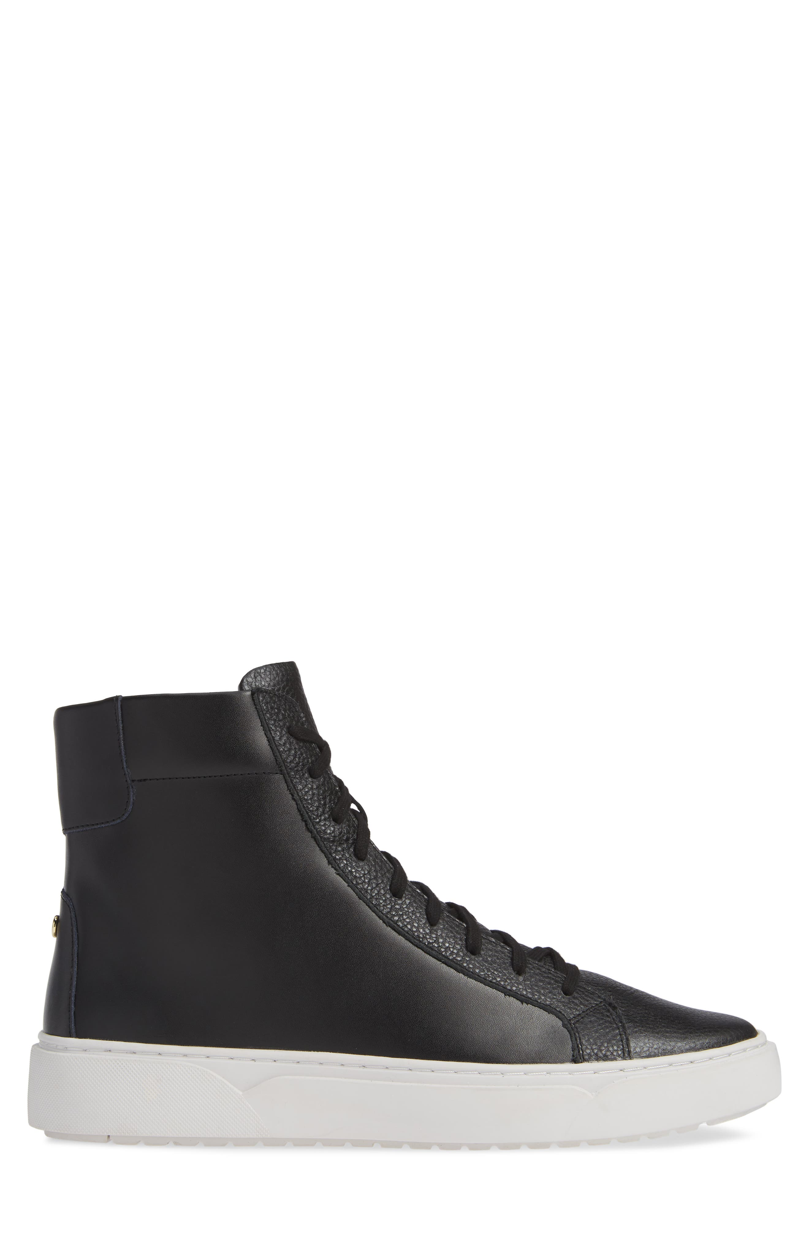 Logan High Top Sneaker,                             Alternate thumbnail 3, color,                             HIGHLAND LEATHER