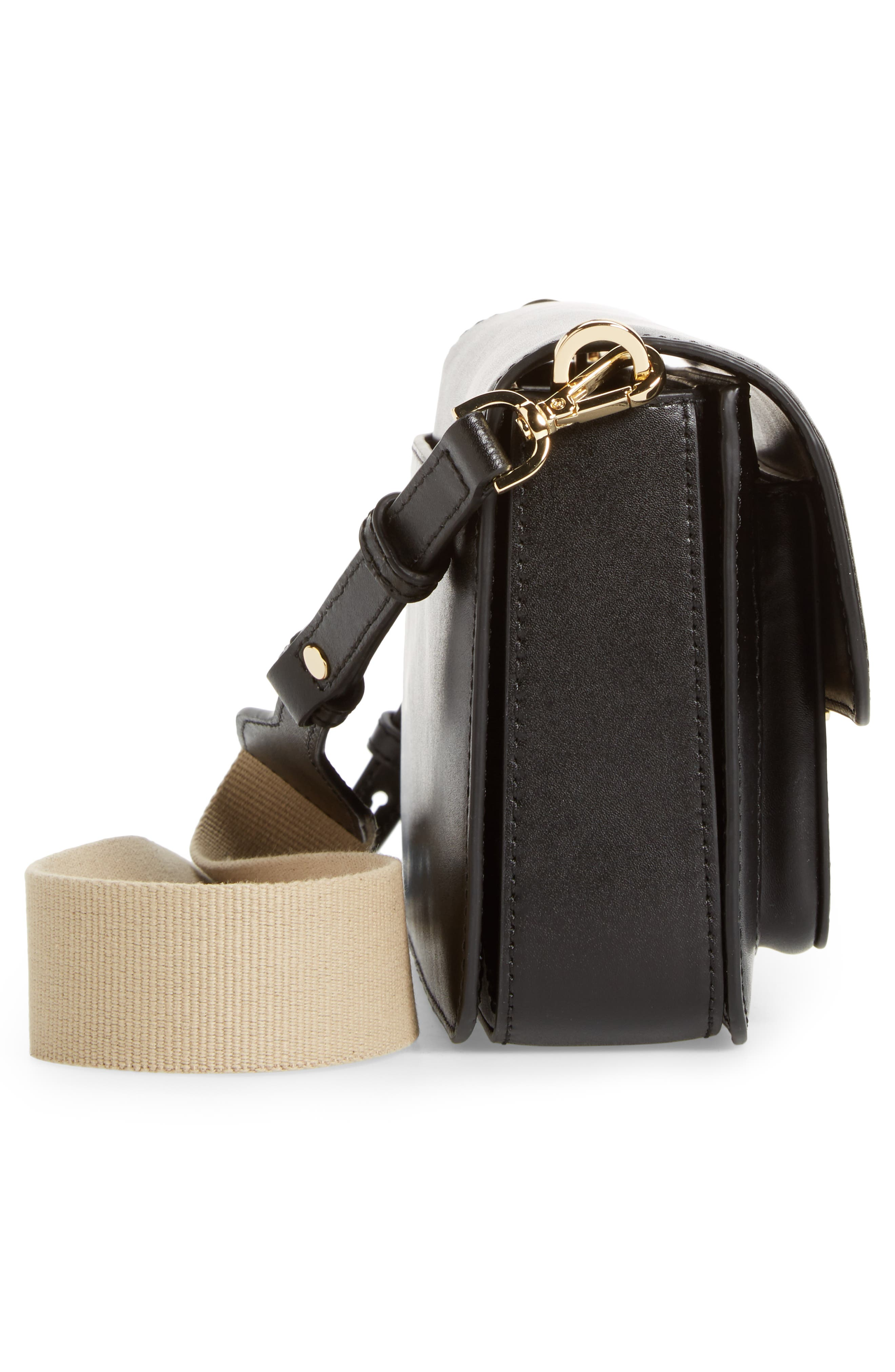 Large Sloan Editor Leather Shoulder Bag,                             Alternate thumbnail 5, color,                             BLACK