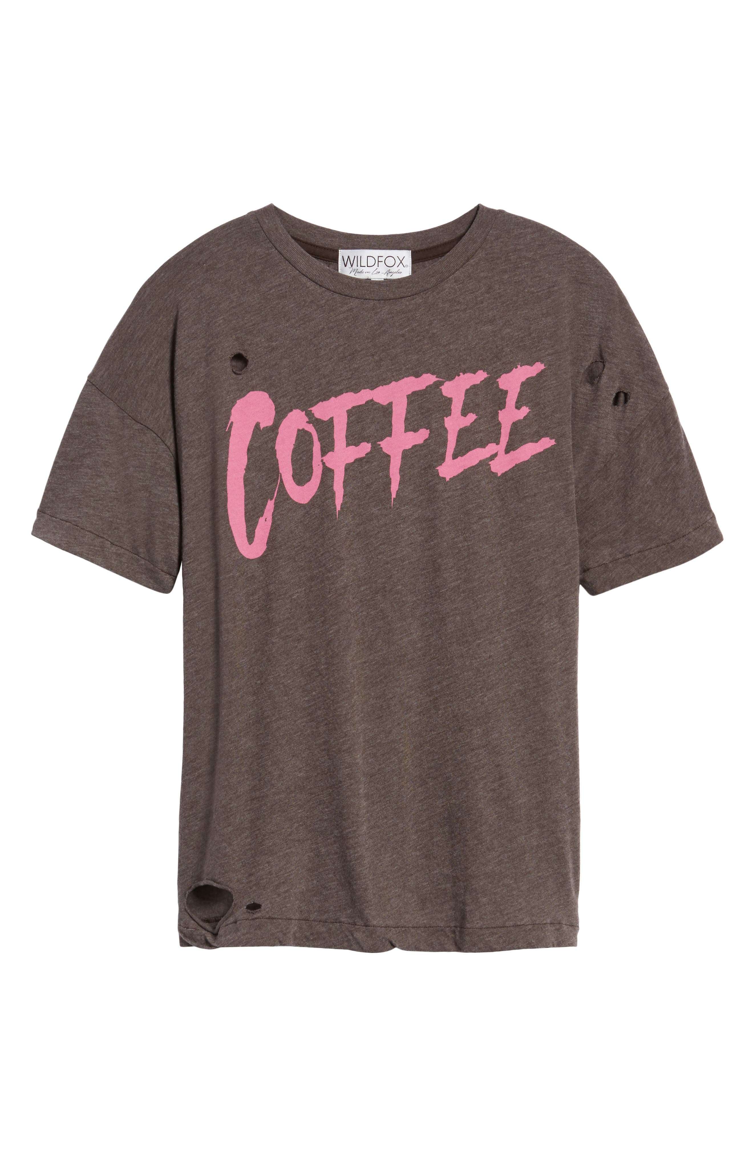 Coffee Destroyed Tee,                             Alternate thumbnail 6, color,                             240