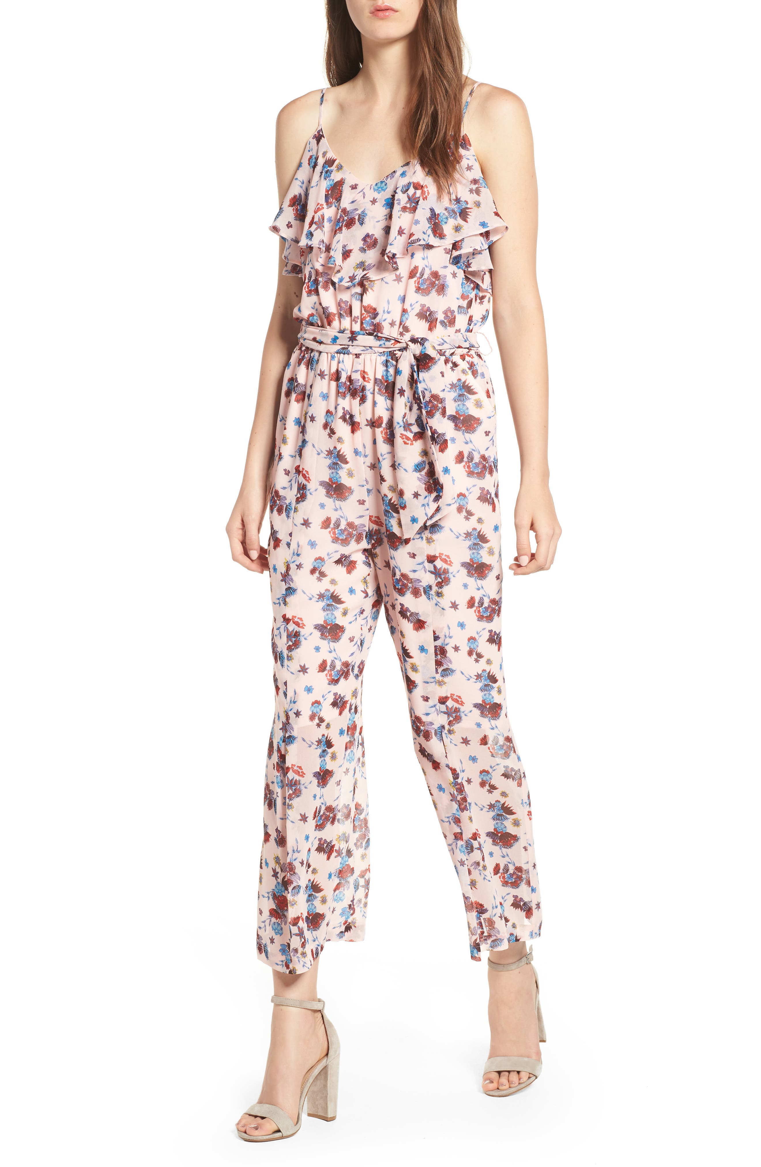 Ruth Jumpsuit,                             Main thumbnail 1, color,                             PINK MULTI