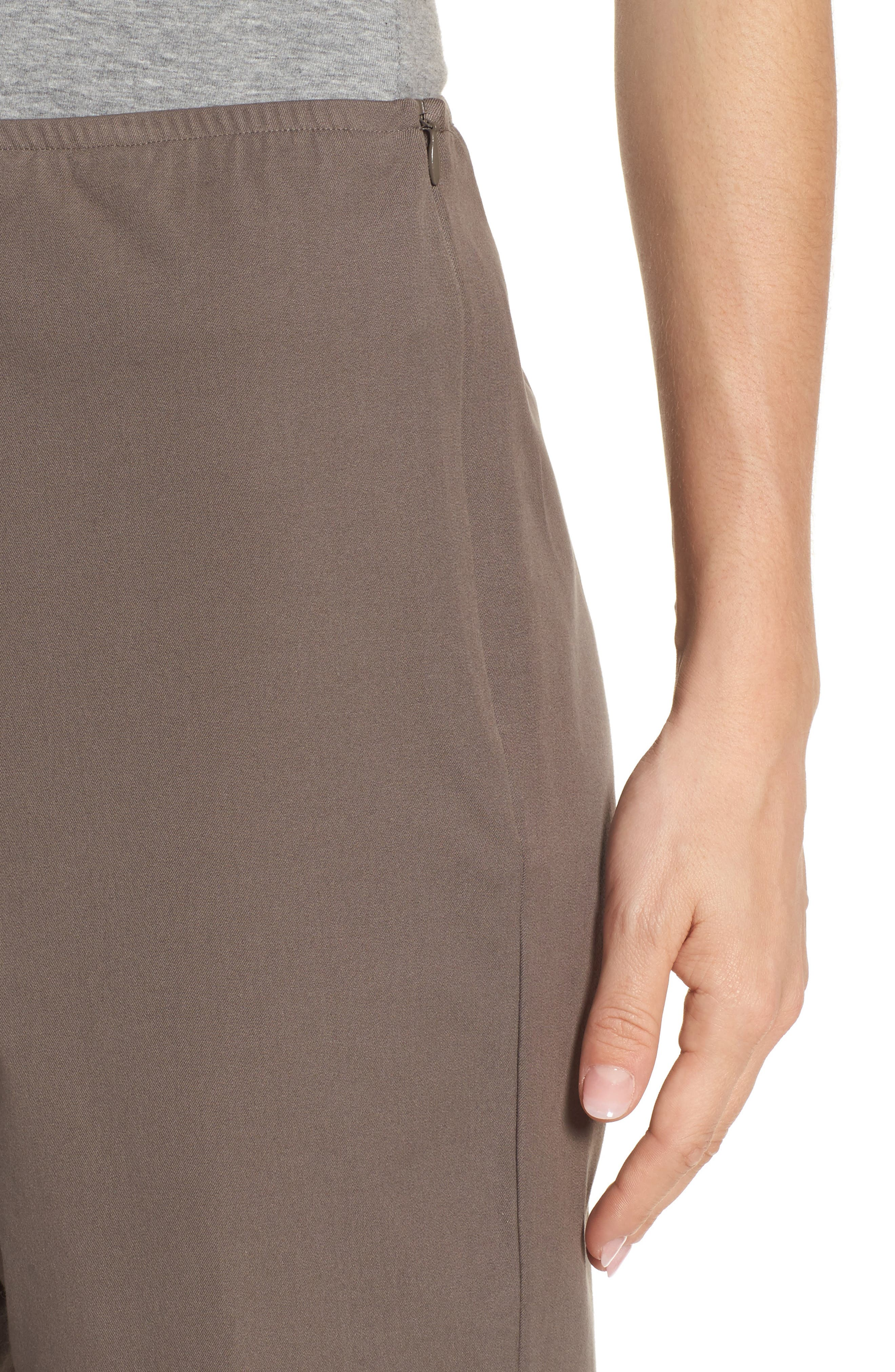 Organic Stretch Cotton Twill Ankle Pants,                             Alternate thumbnail 40, color,