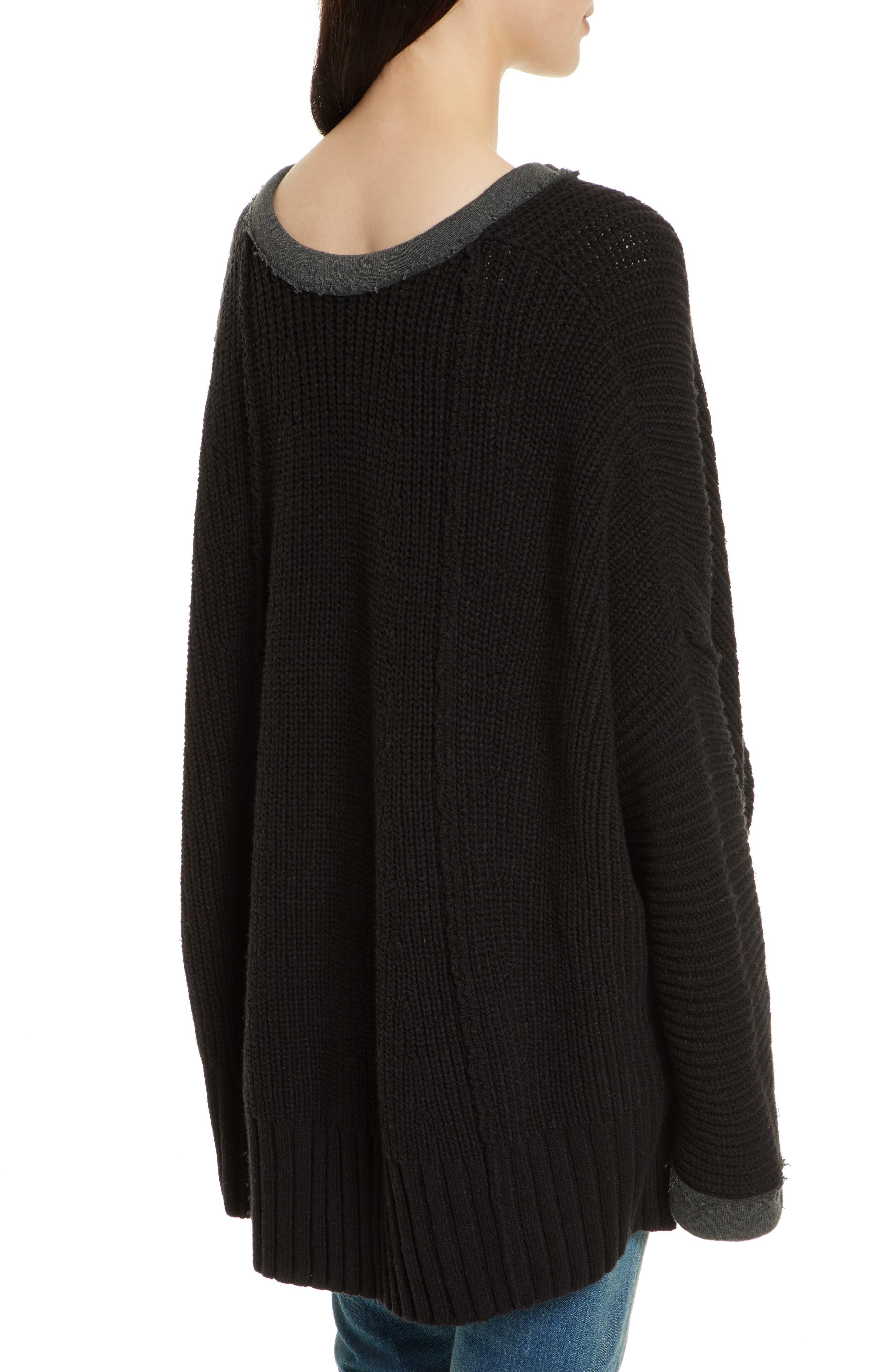 Take Over Me V-Neck Sweater,                             Alternate thumbnail 2, color,                             001