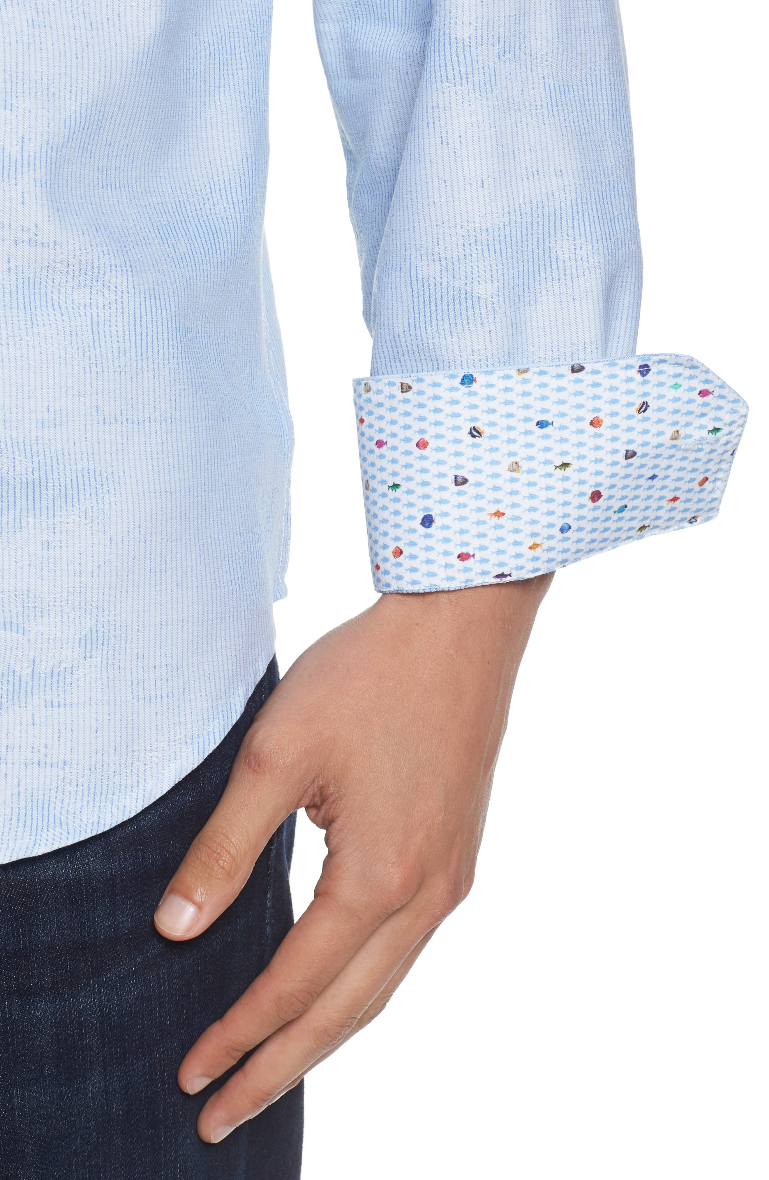 Woven Sport Shirt,                             Alternate thumbnail 4, color,                             459