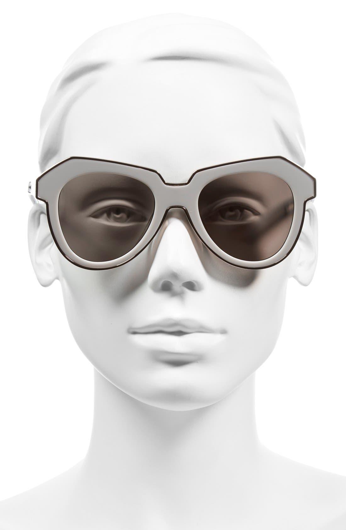 KAREN WALKER,                             'One Astronaut - Arrowed by Karen' 49mm Sunglasses,                             Alternate thumbnail 2, color,                             100