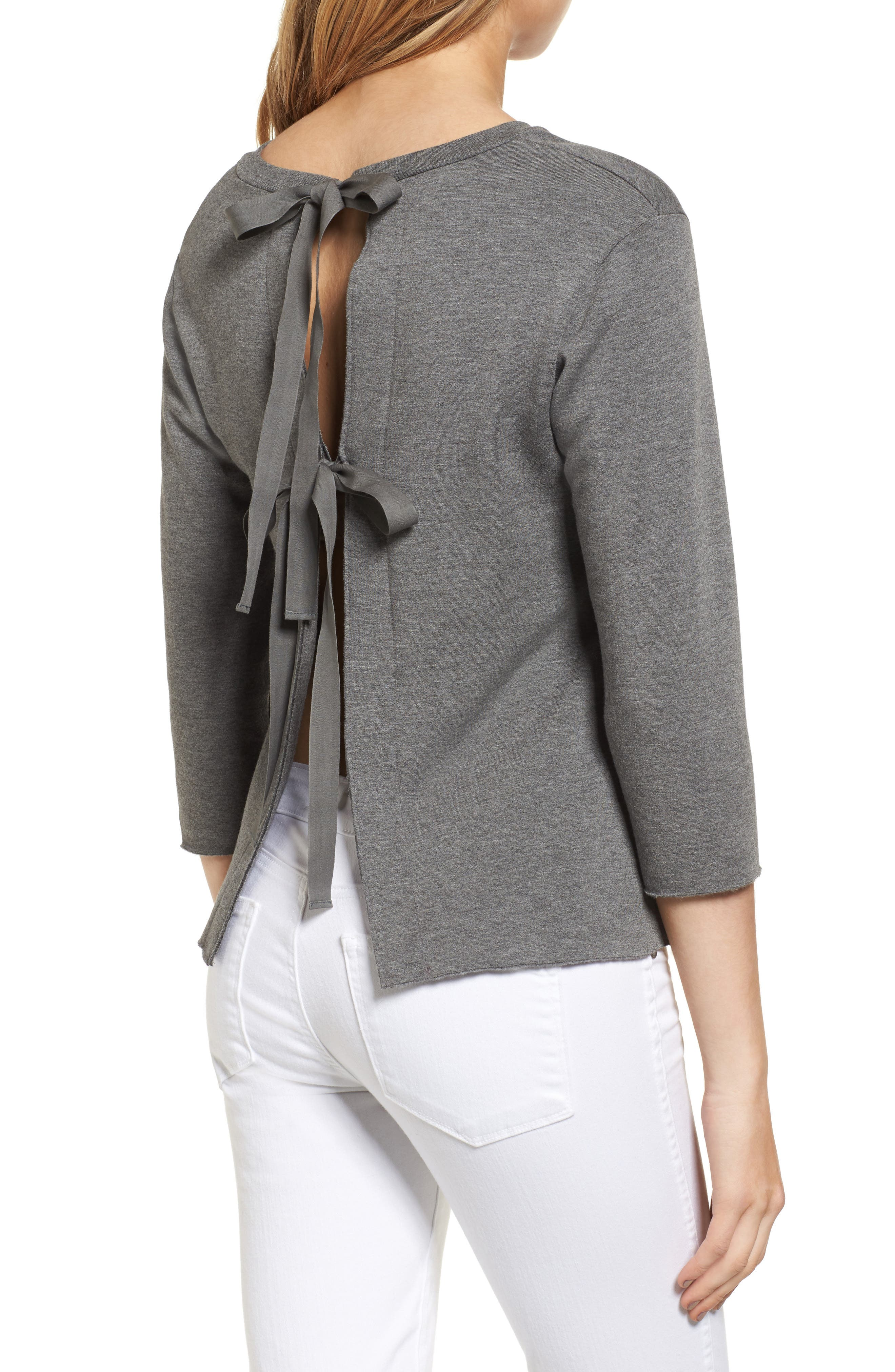 Frappe Tie Back Sweater,                             Alternate thumbnail 2, color,                             021
