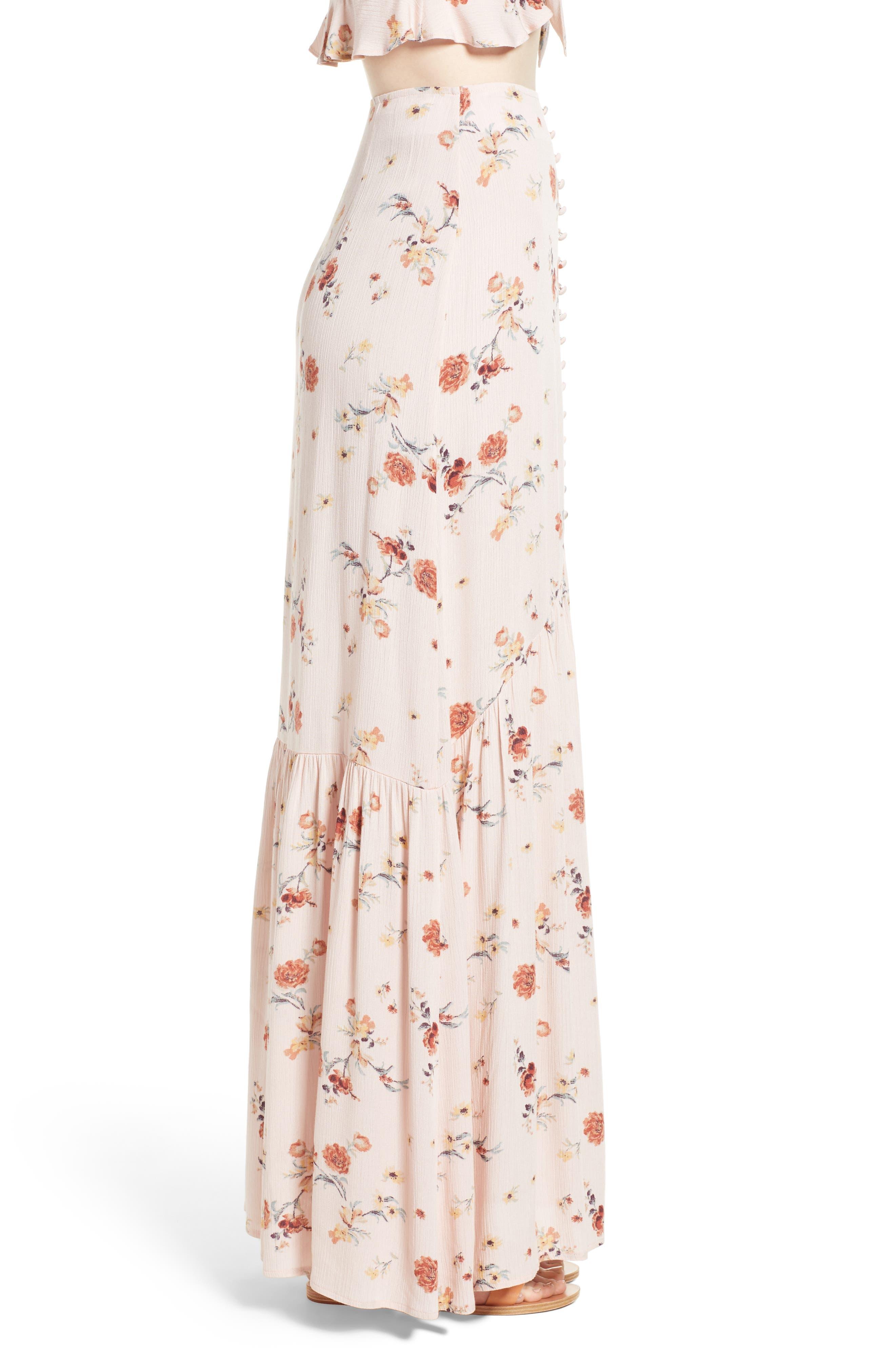 Rosa Floral Maxi Skirt,                             Alternate thumbnail 3, color,