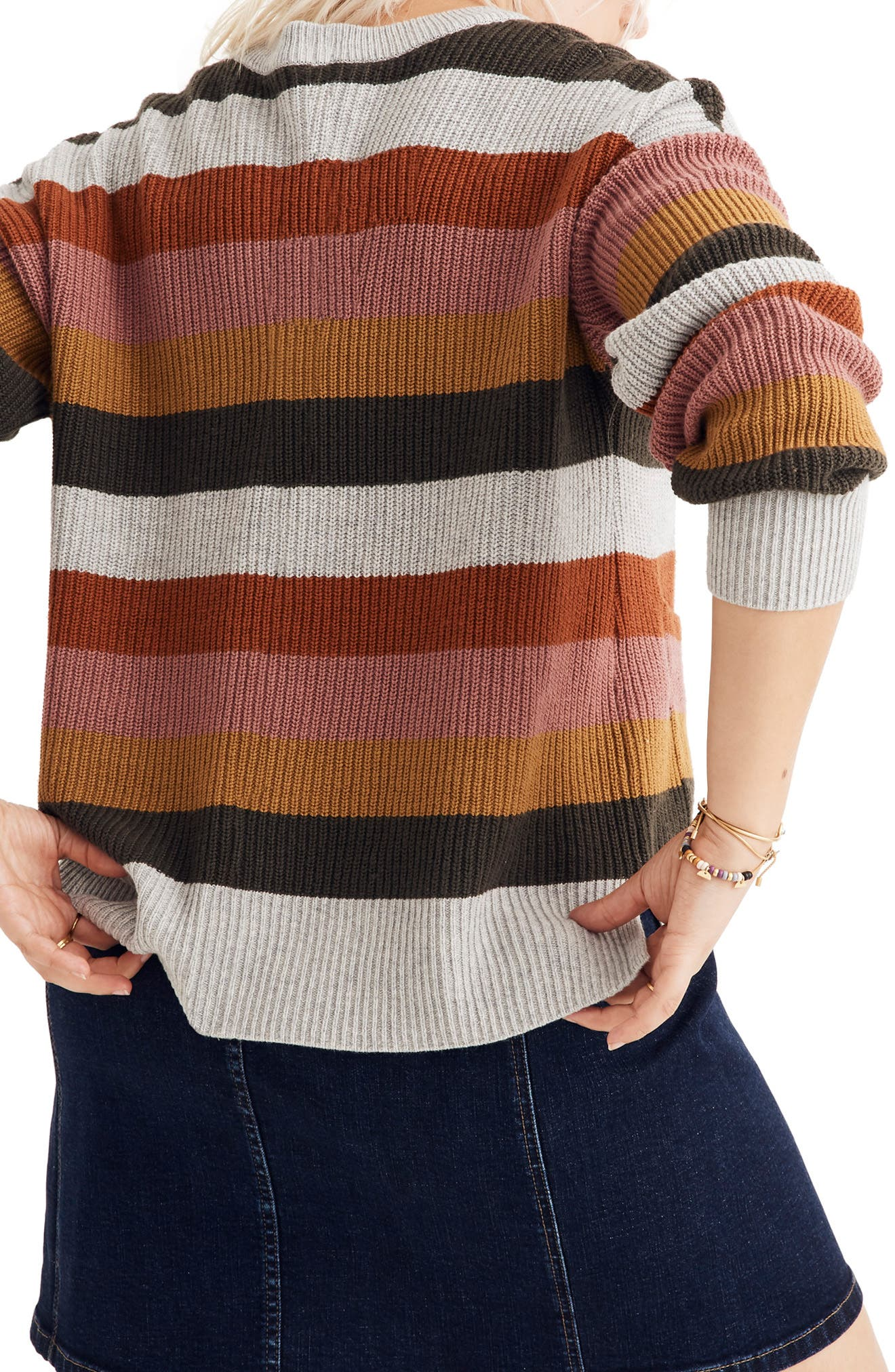 Patch Pocket Pullover Sweater,                             Alternate thumbnail 3, color,                             ARCTIC ICE