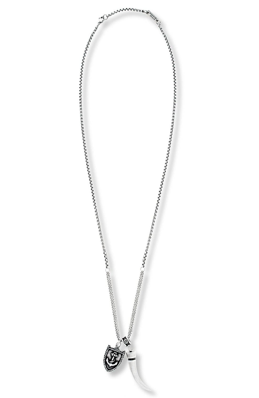 Horn & Armor Pendant Necklace,                         Main,                         color, 040