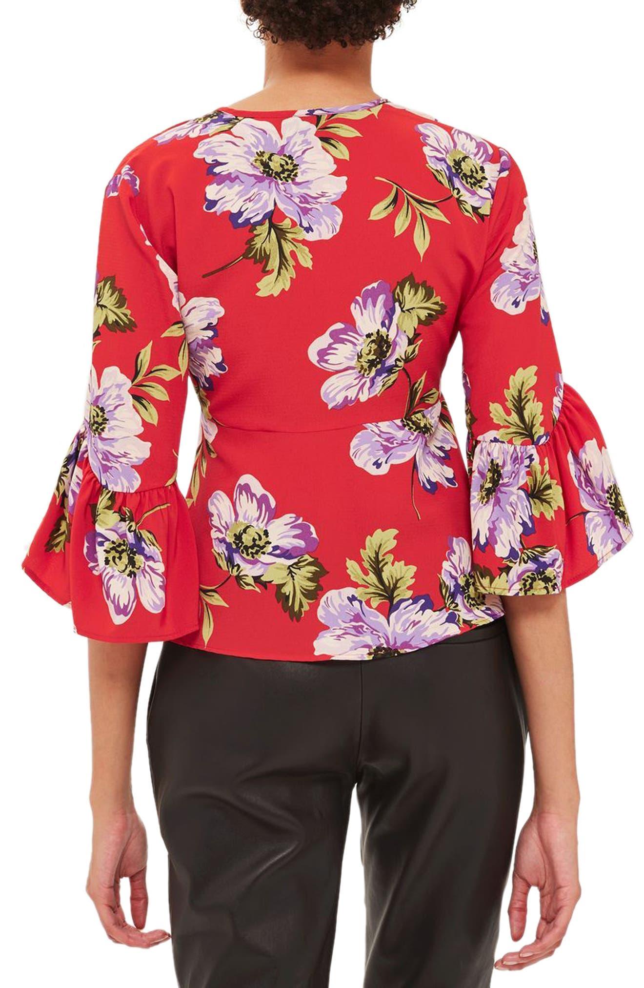 Felicity Tie Front Blouse,                             Alternate thumbnail 4, color,