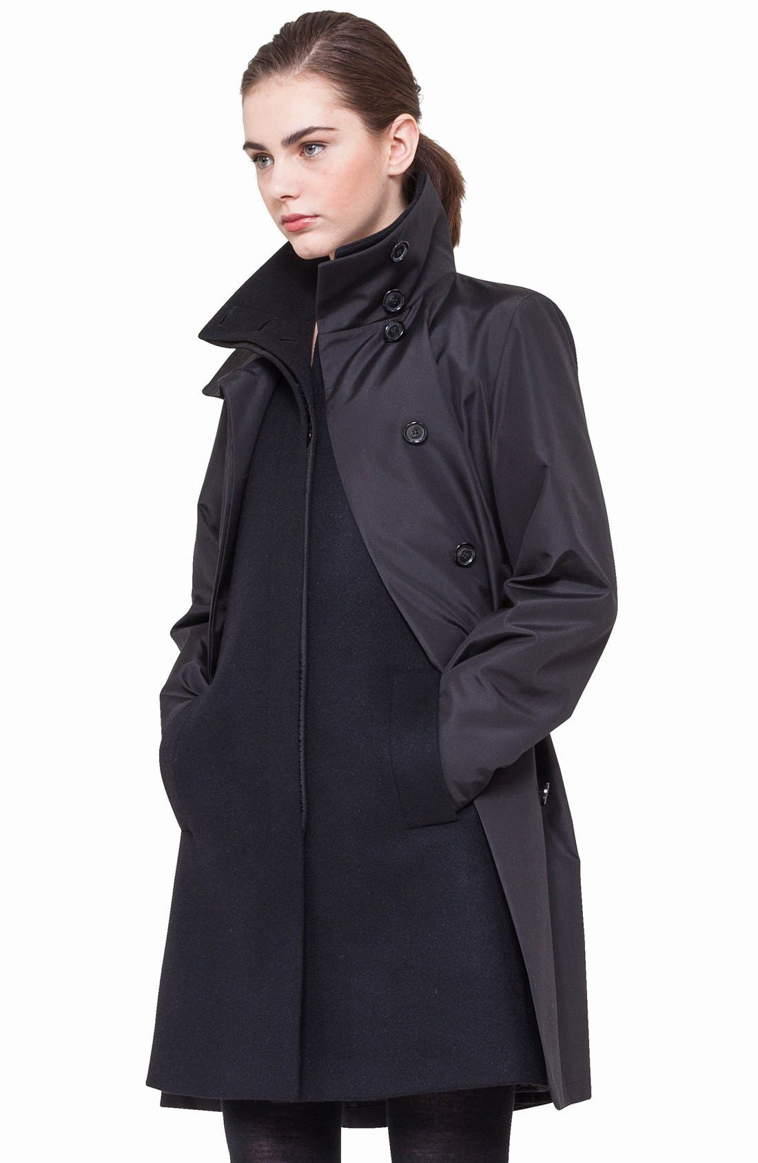 3-in-1 Technical Coat,                             Main thumbnail 1, color,                             BLACK