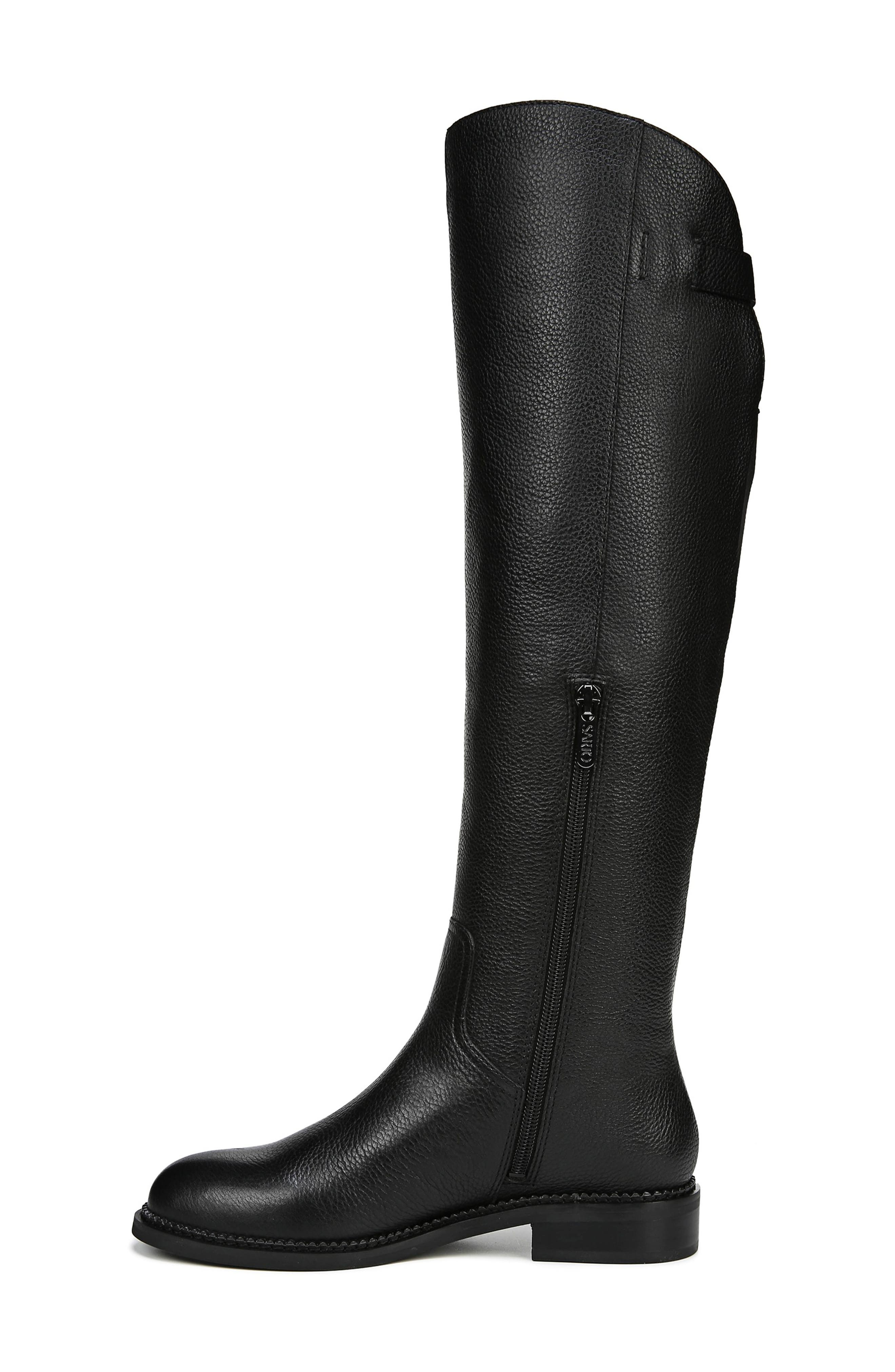 Halloway Knee High Boot,                             Alternate thumbnail 9, color,                             BLACK LEATHER