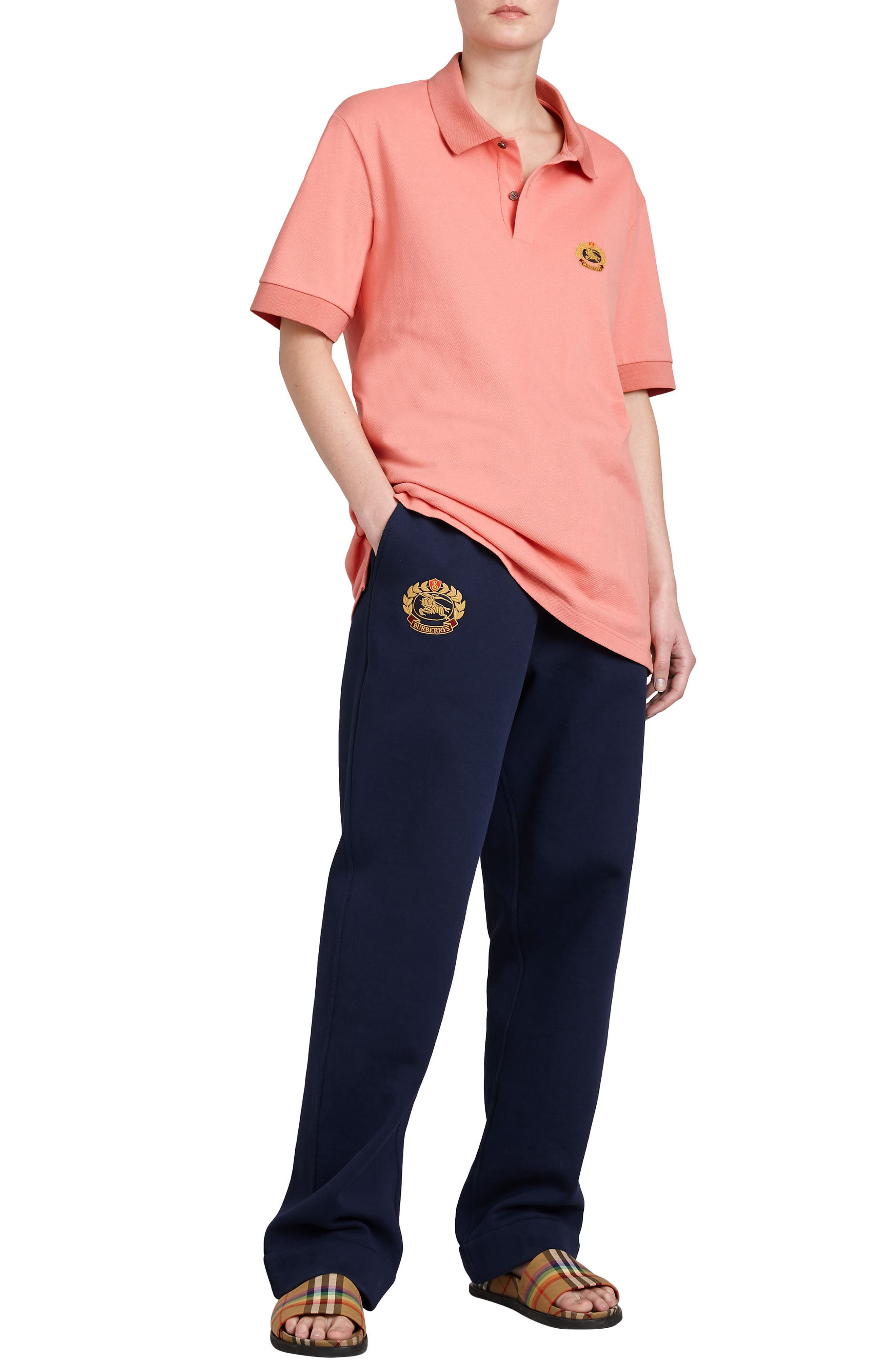 Vintage Crest Sweatpants,                             Alternate thumbnail 7, color,                             MIDNIGHT BLUE