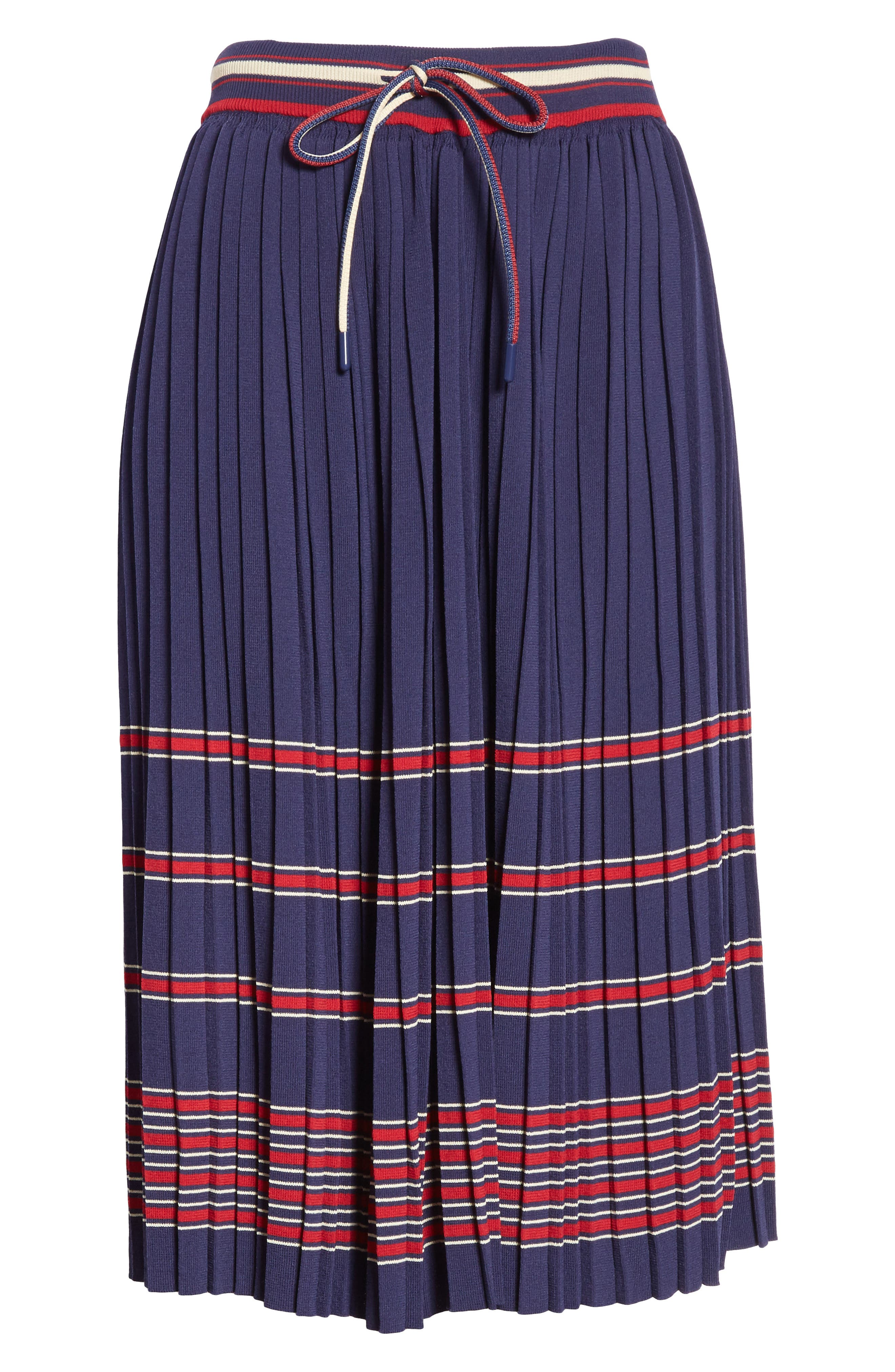 Pleated Midi Skirt,                             Alternate thumbnail 6, color,