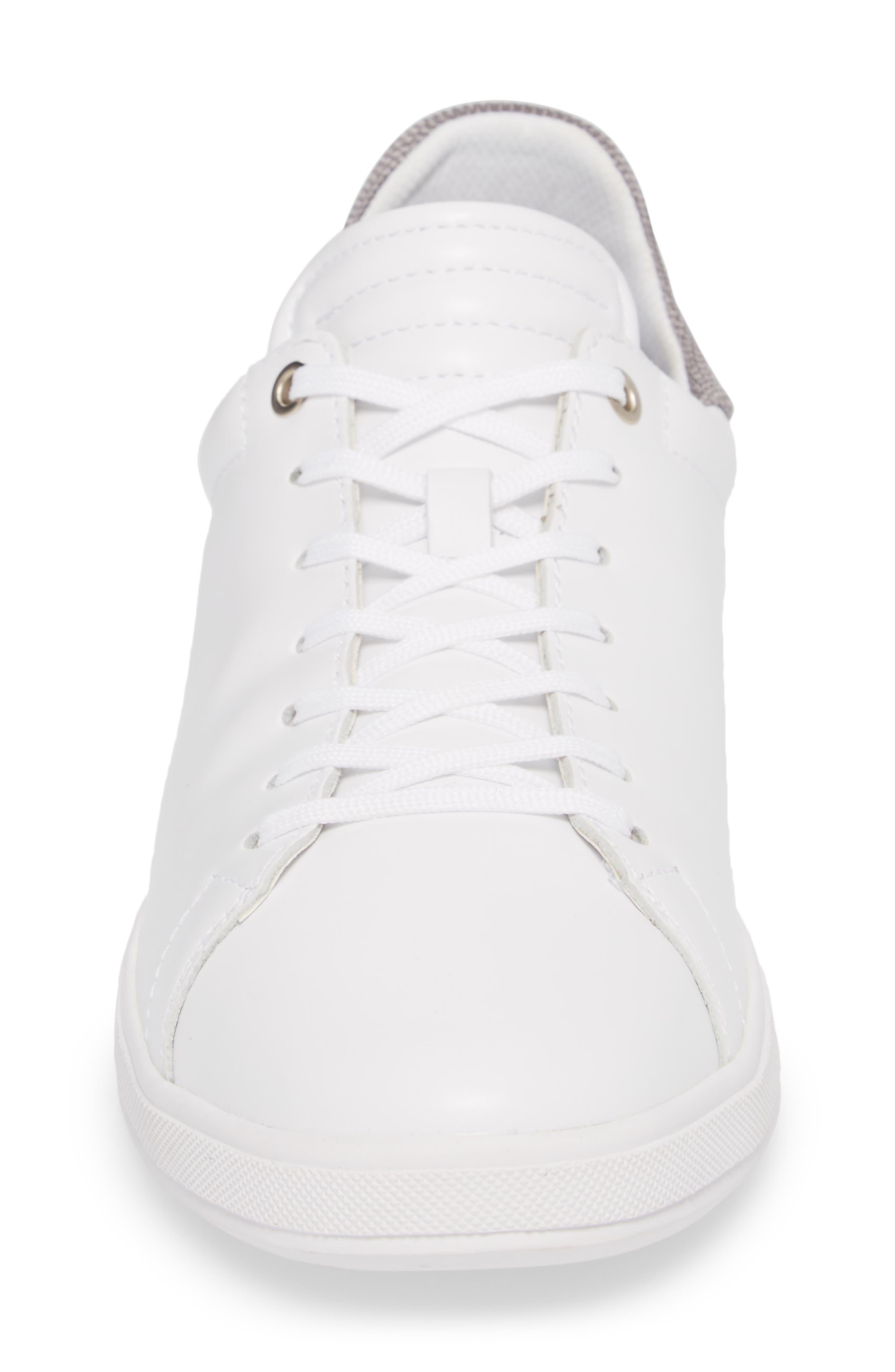 Joe Mama Sneaker,                             Alternate thumbnail 4, color,                             WHITE LEATHER
