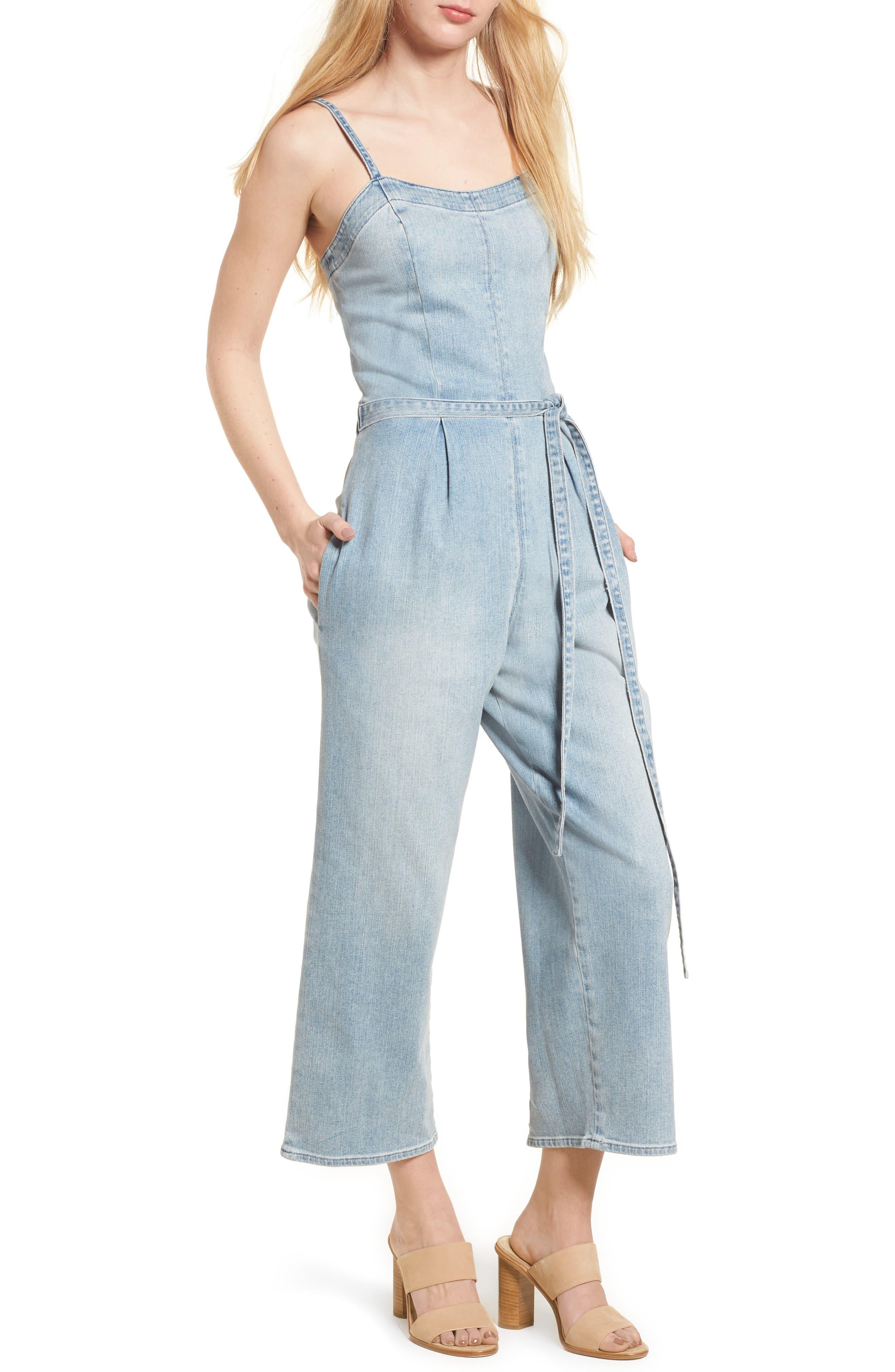 Gisele Denim Jumpsuit,                         Main,                         color, 412