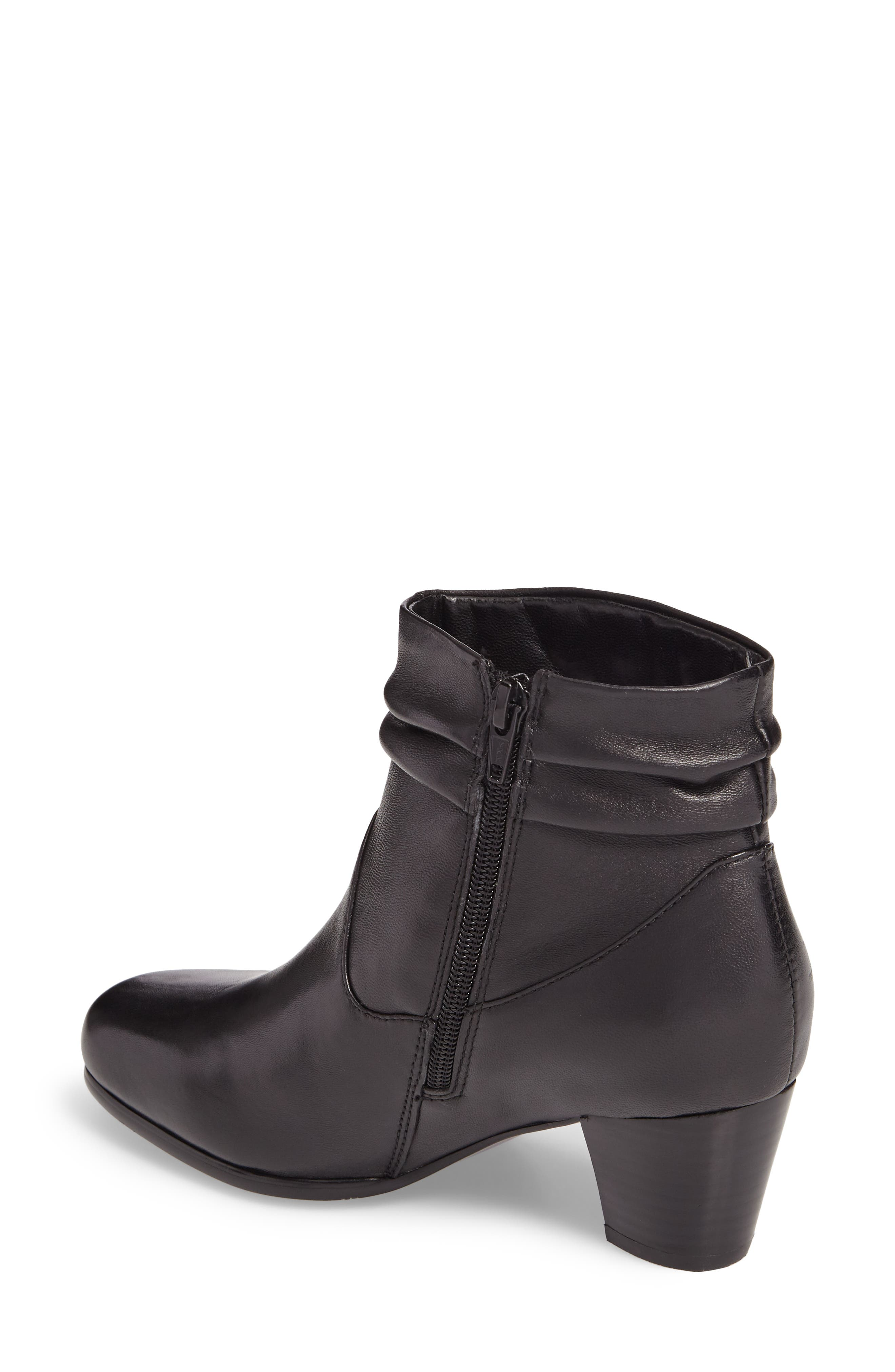Shadown Bootie,                             Alternate thumbnail 2, color,                             BLACK LEATHER