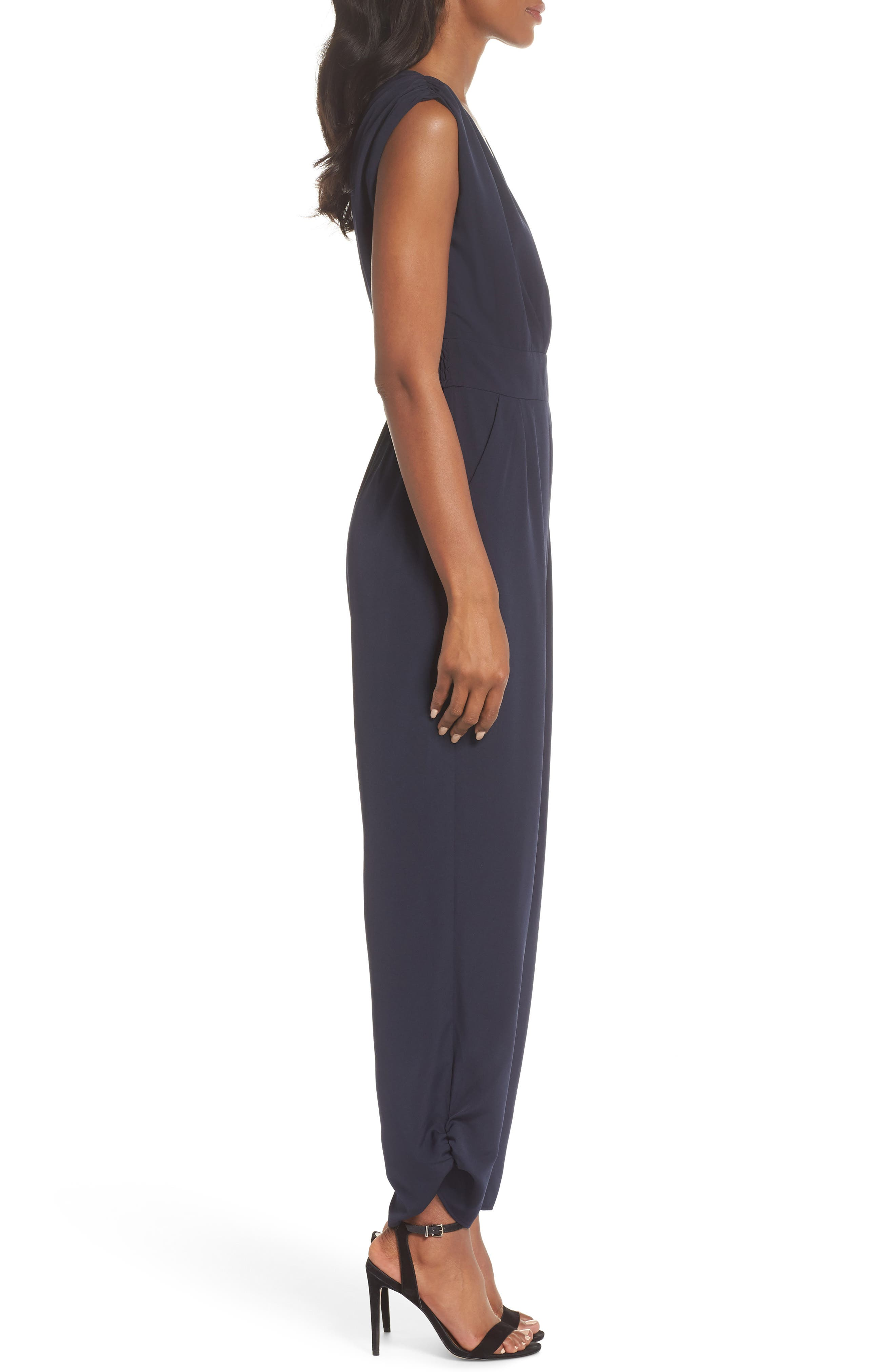Ruched Ankle Jumpsuit,                             Alternate thumbnail 4, color,                             410