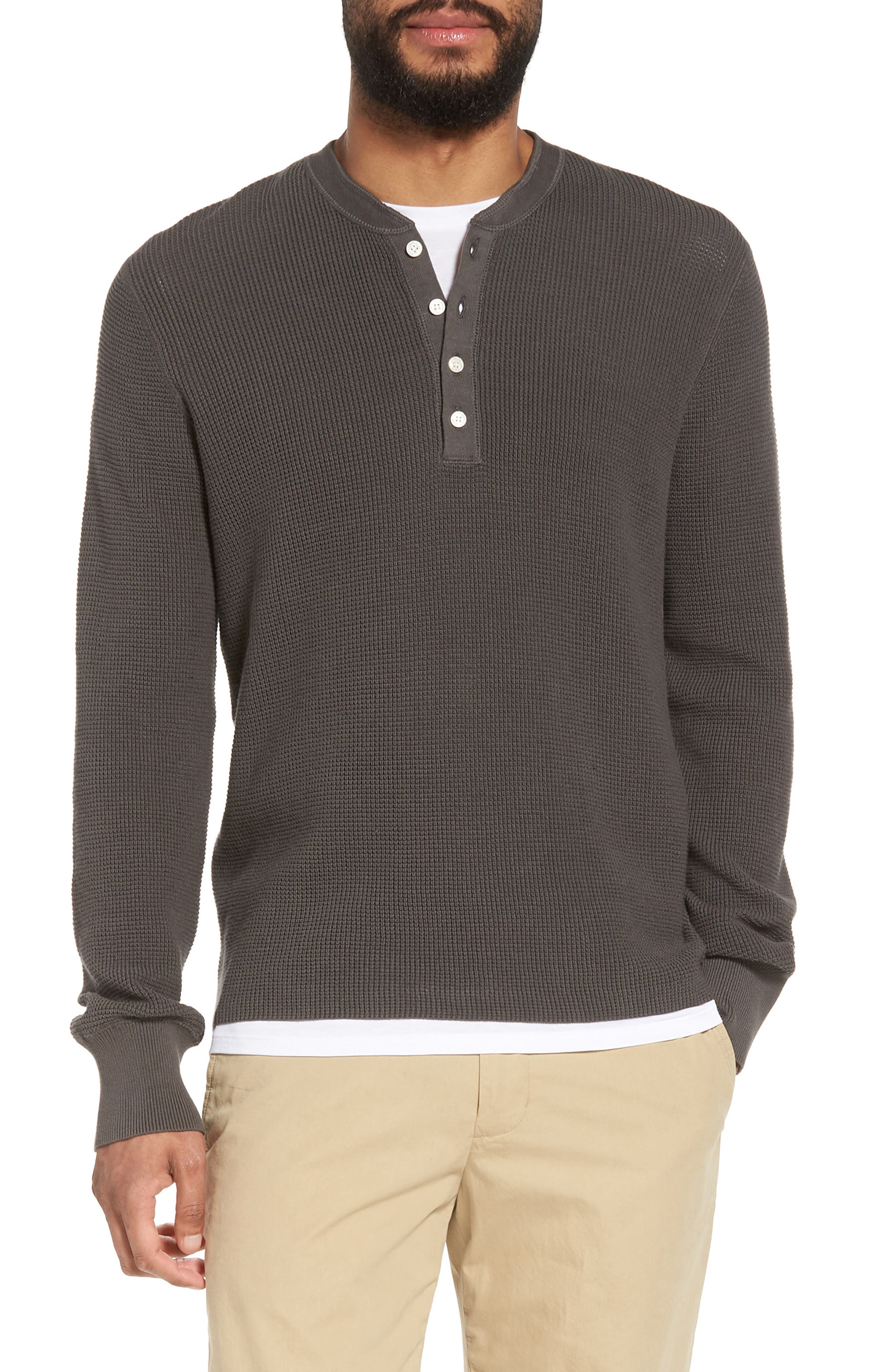 Slim Fit Thermal Henley,                         Main,                         color, 020